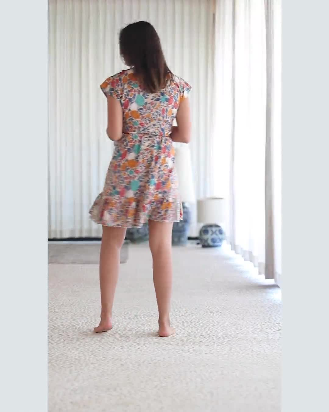 Multi-Prints Wrap Dress - Video