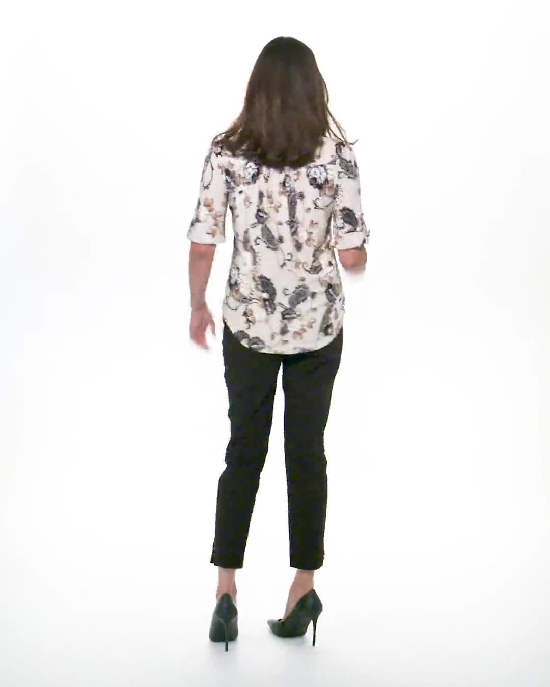 Jaquard Floral Pintuck Popover - Video