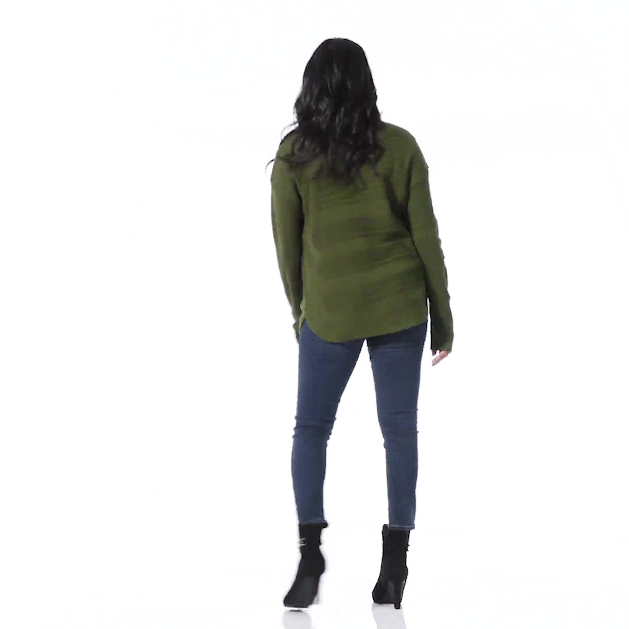 Westport Ottoman Stitch Curved Hem Sweater - Video