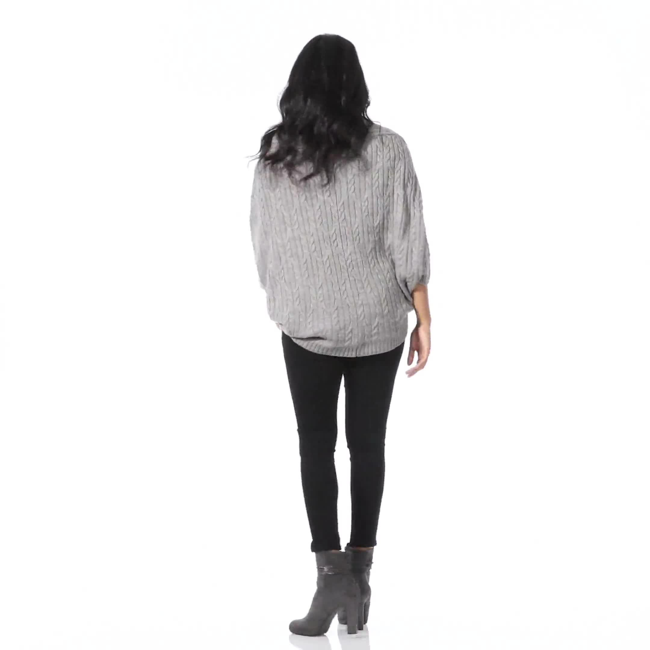 Westport Cable Poncho Sweater - Video