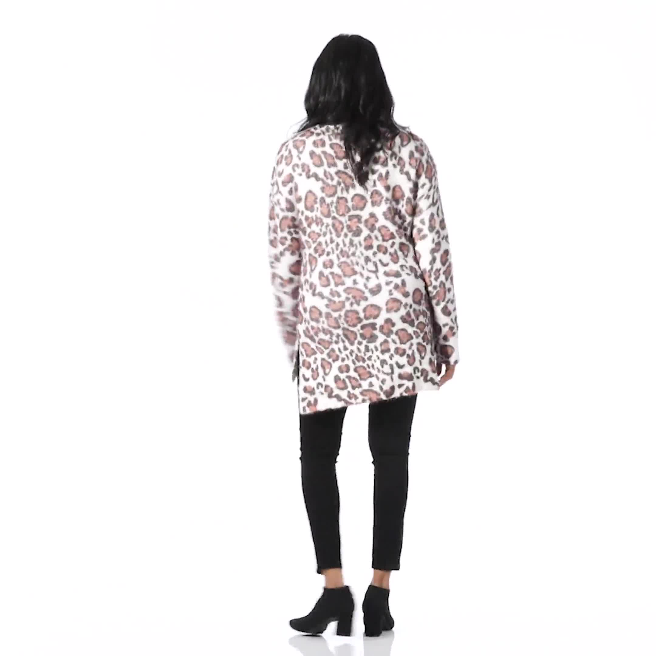 Roz & Ali Eyelash Animal Sweater Tunic - Video