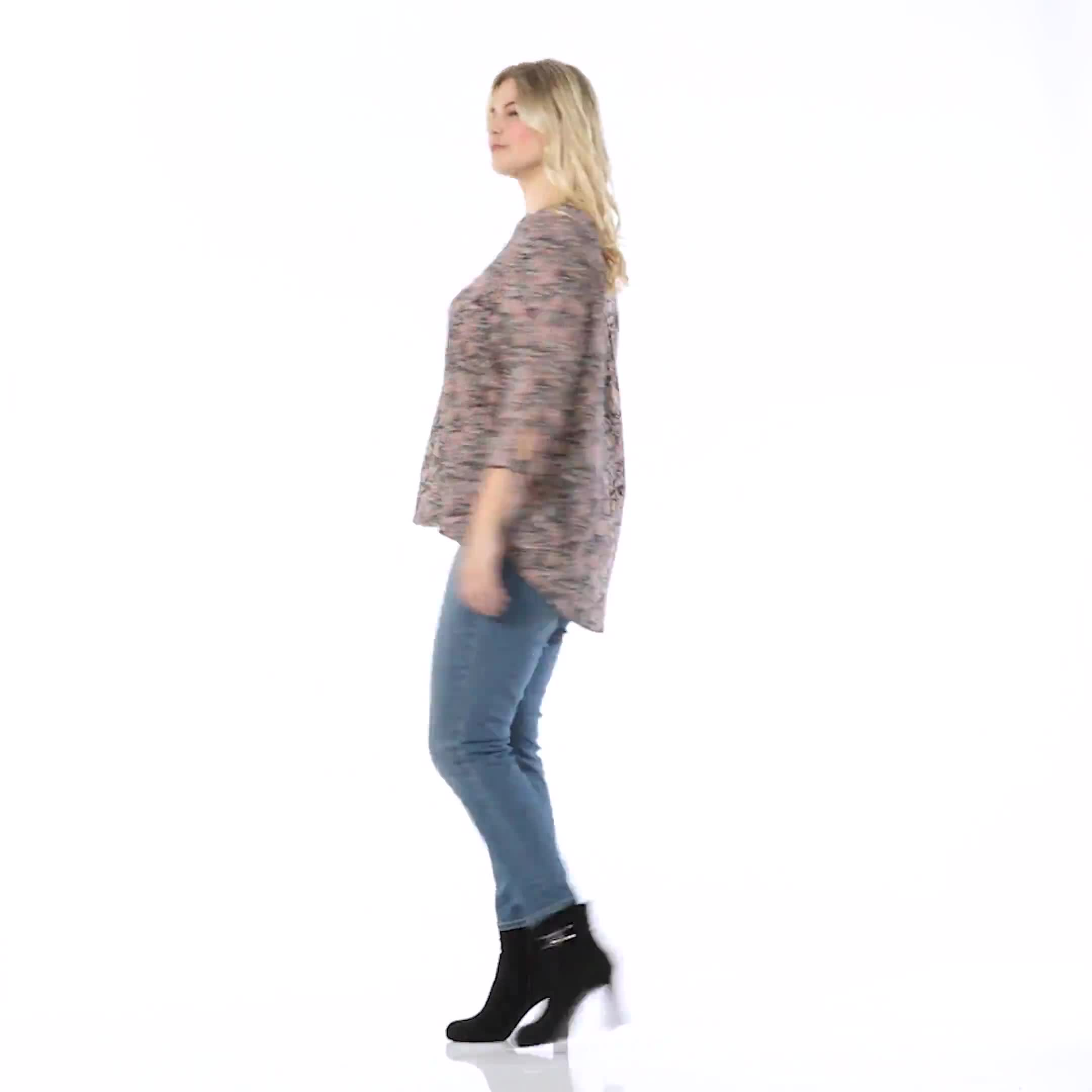 Dressbarn Paisley Woven Pintuck Popover - Video
