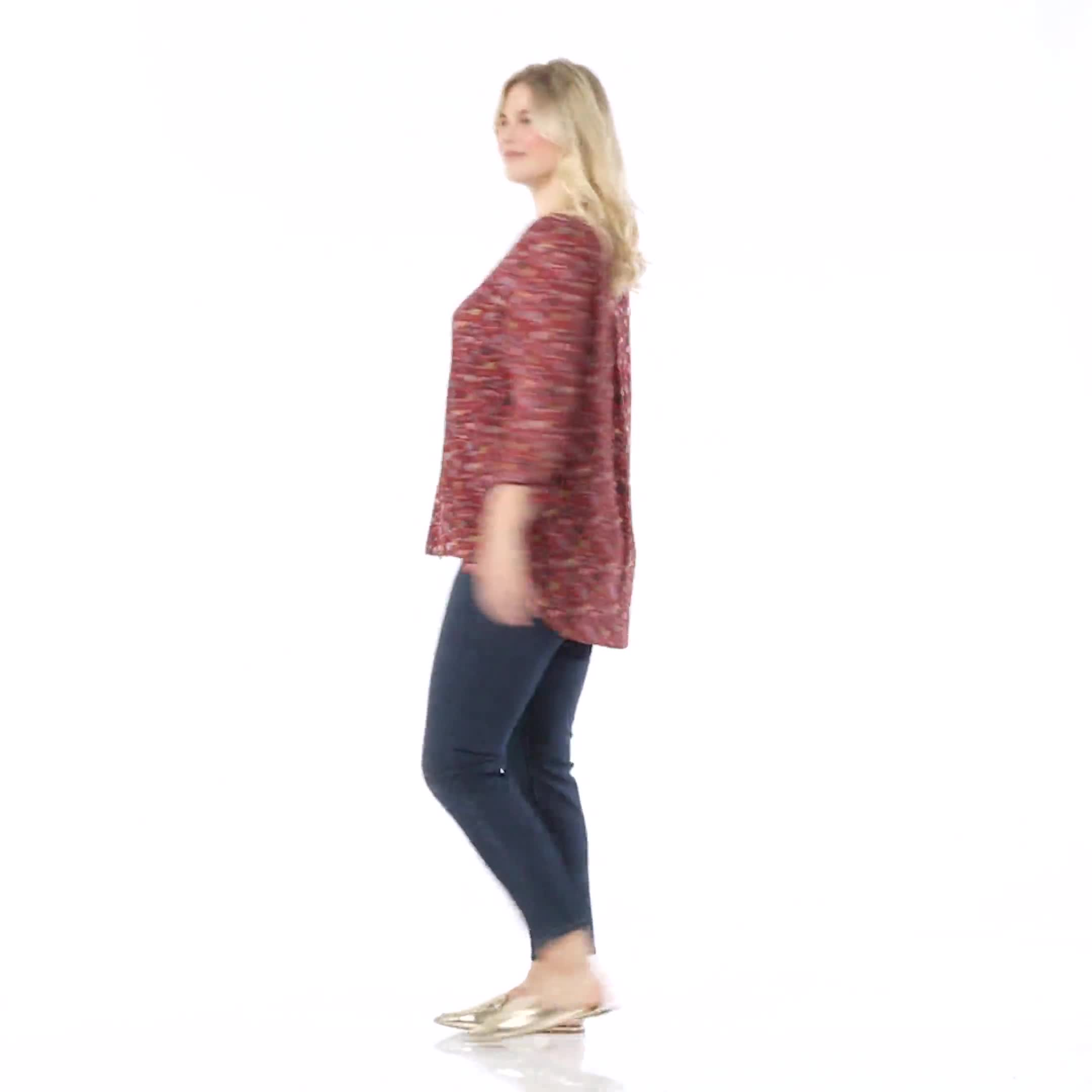 Ditsy Floral Pintuck Woven Popover - Plus - Video