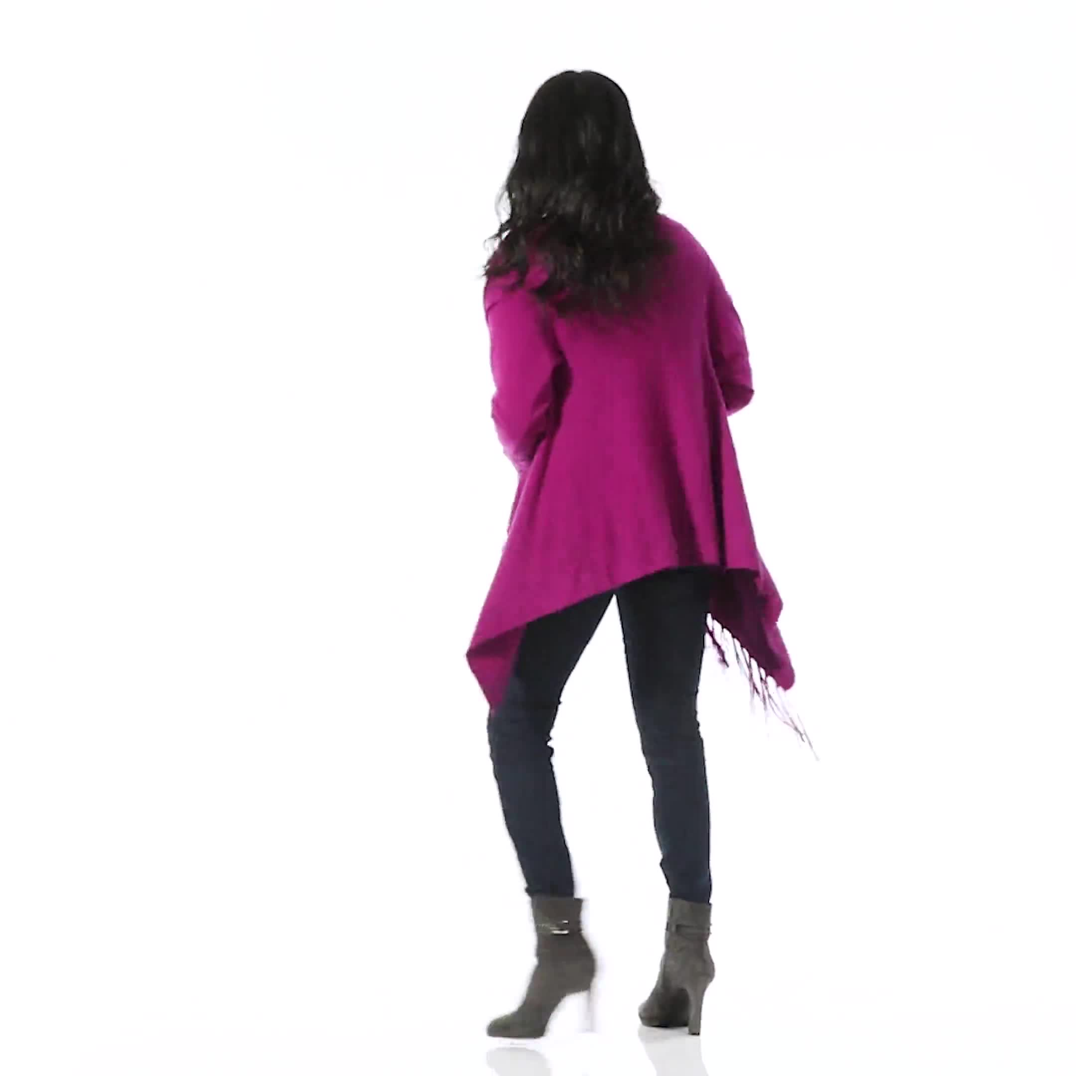 Roz & Ali Cascade Fringe Cardigan - Misses - Video