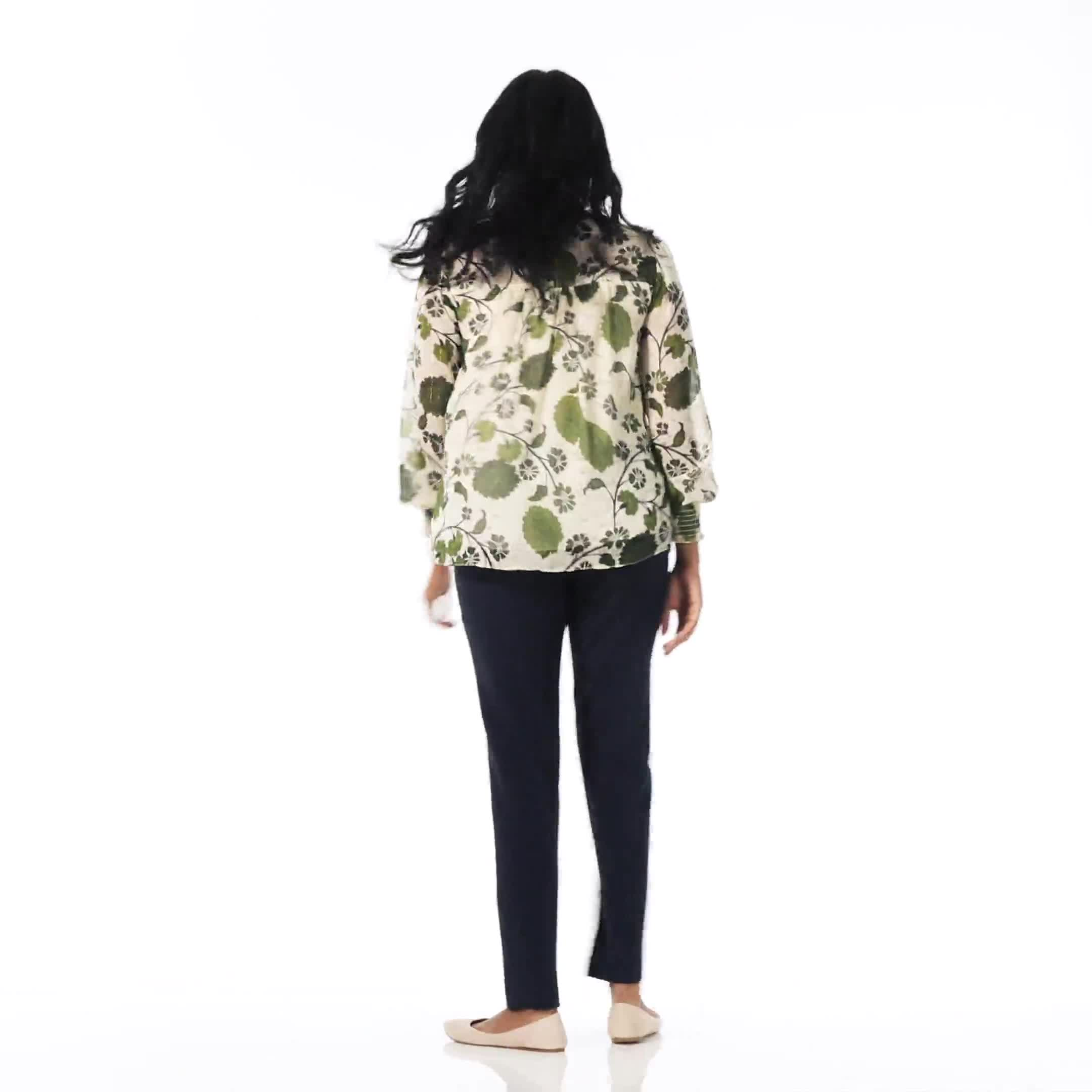 Floral Printed Blouse With Lurex - Video