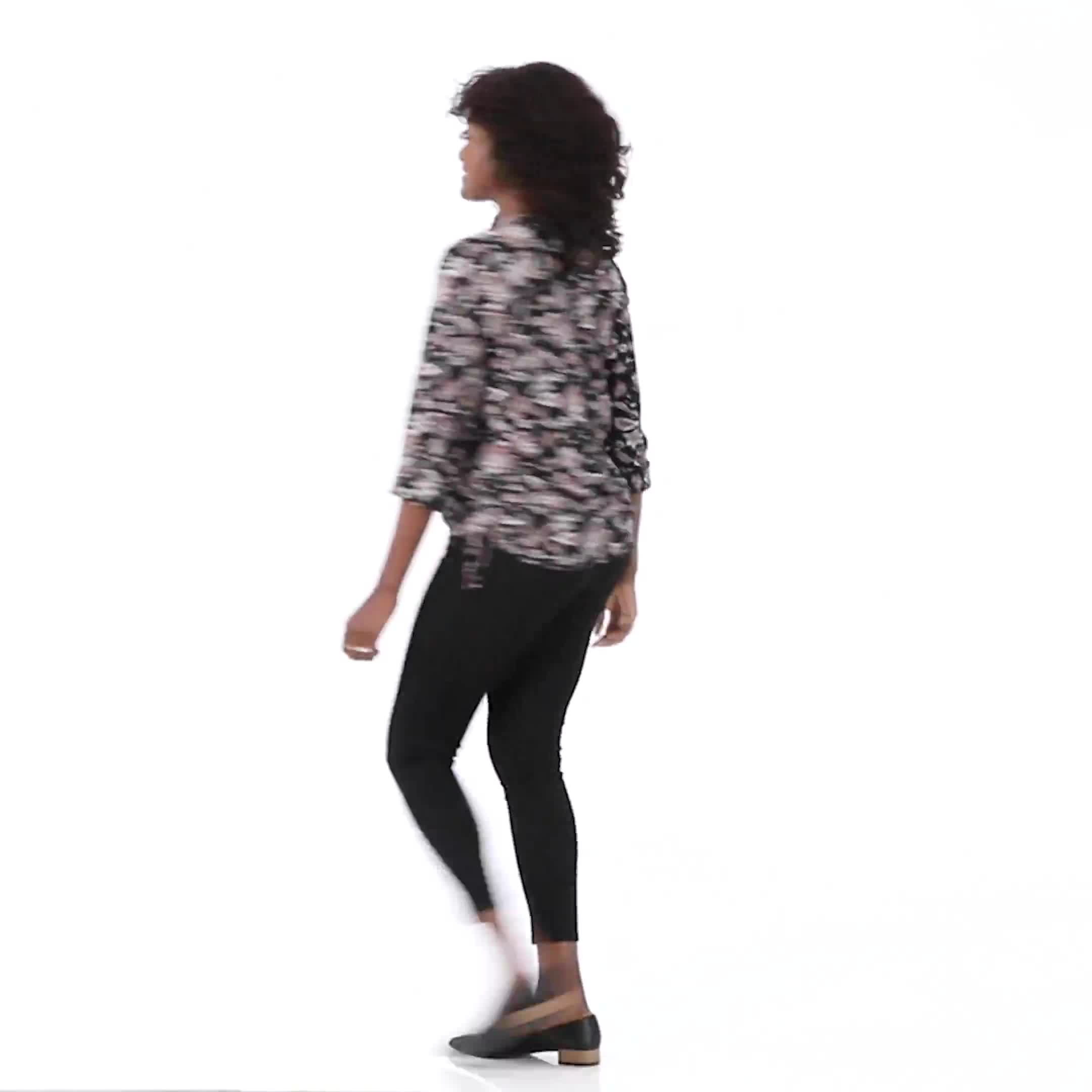 Roz & Ali Floral Side Tie Popover Blouse - Video