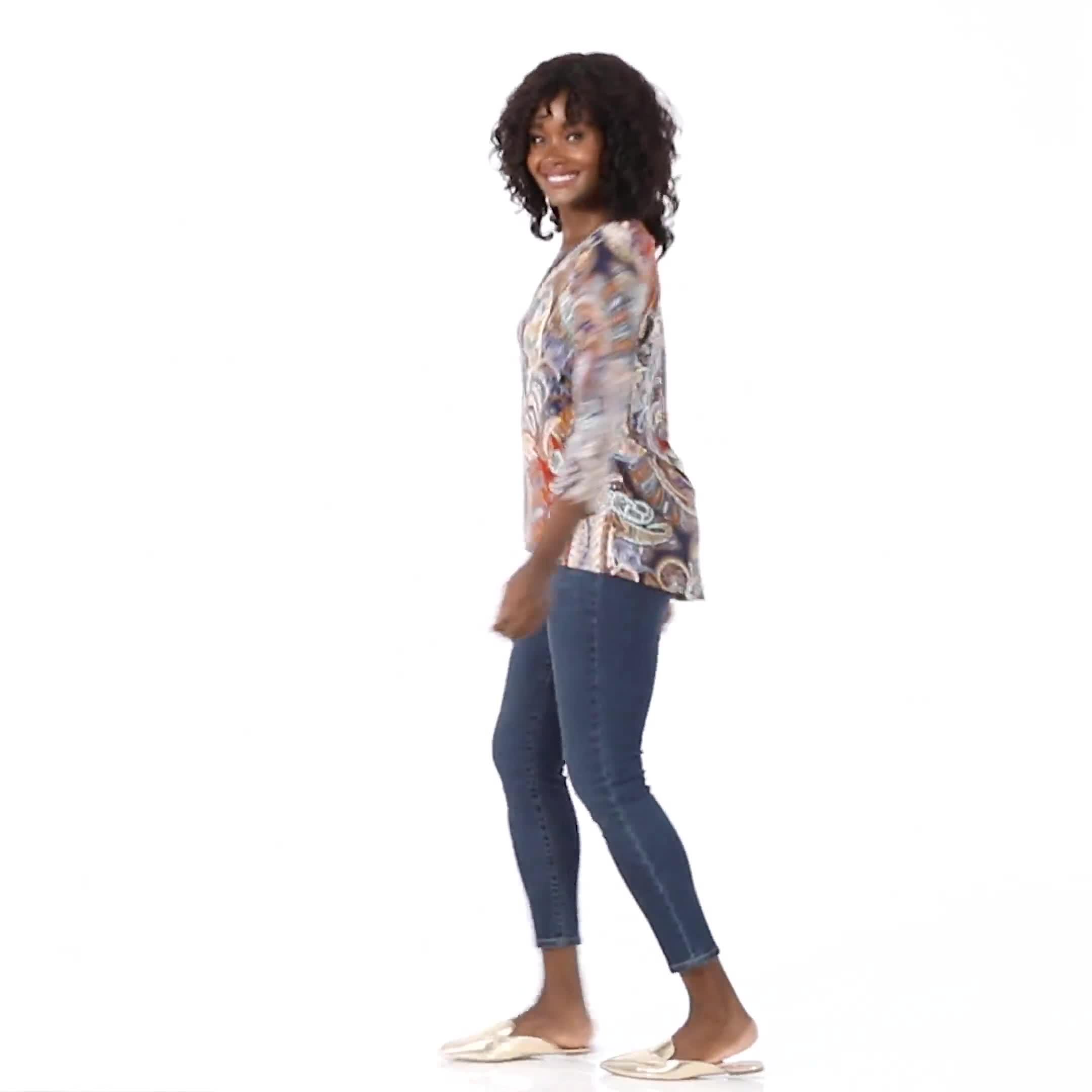 Westport Paisley Knit Top - Misses - Video