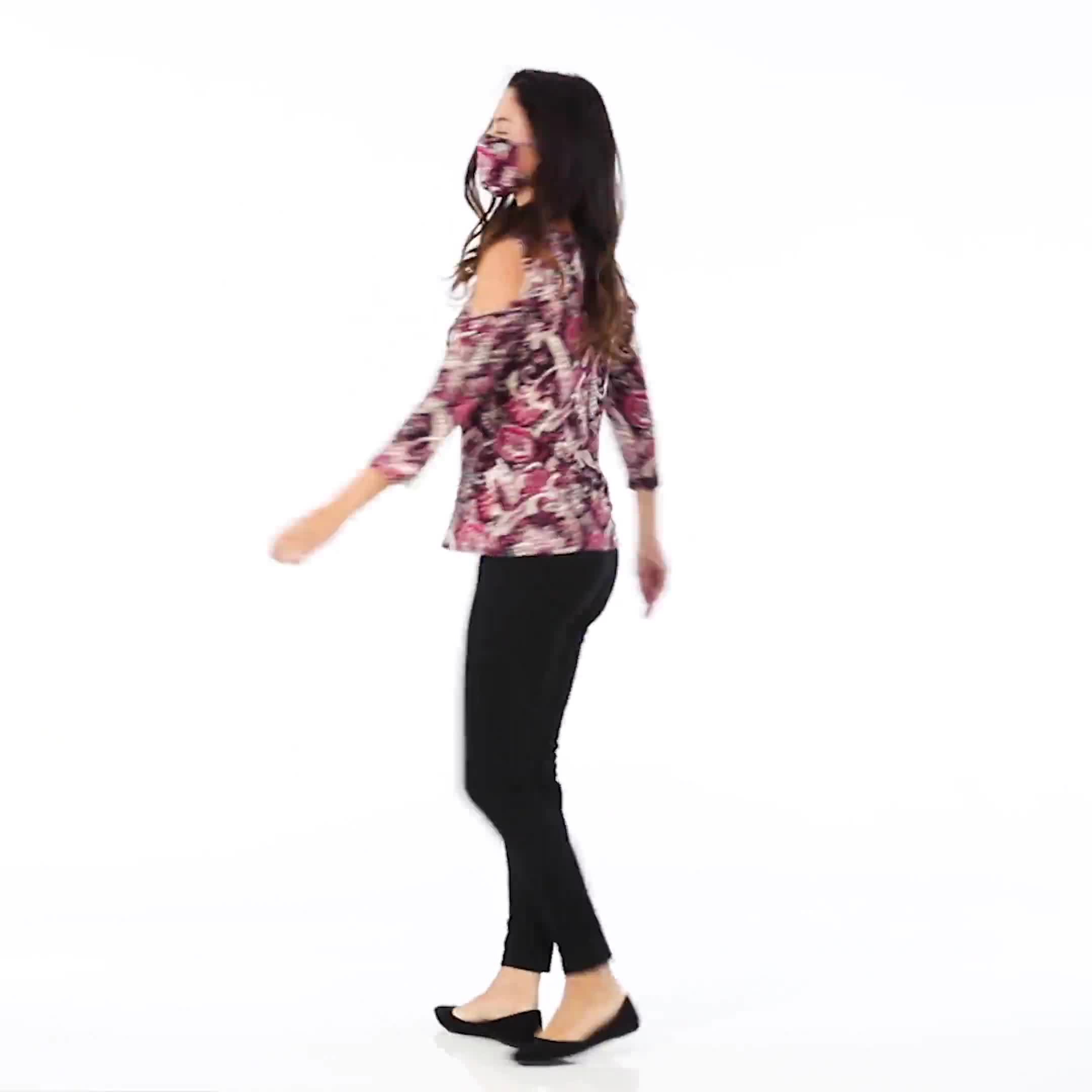 Westport Bohemian Print knit Top - Video