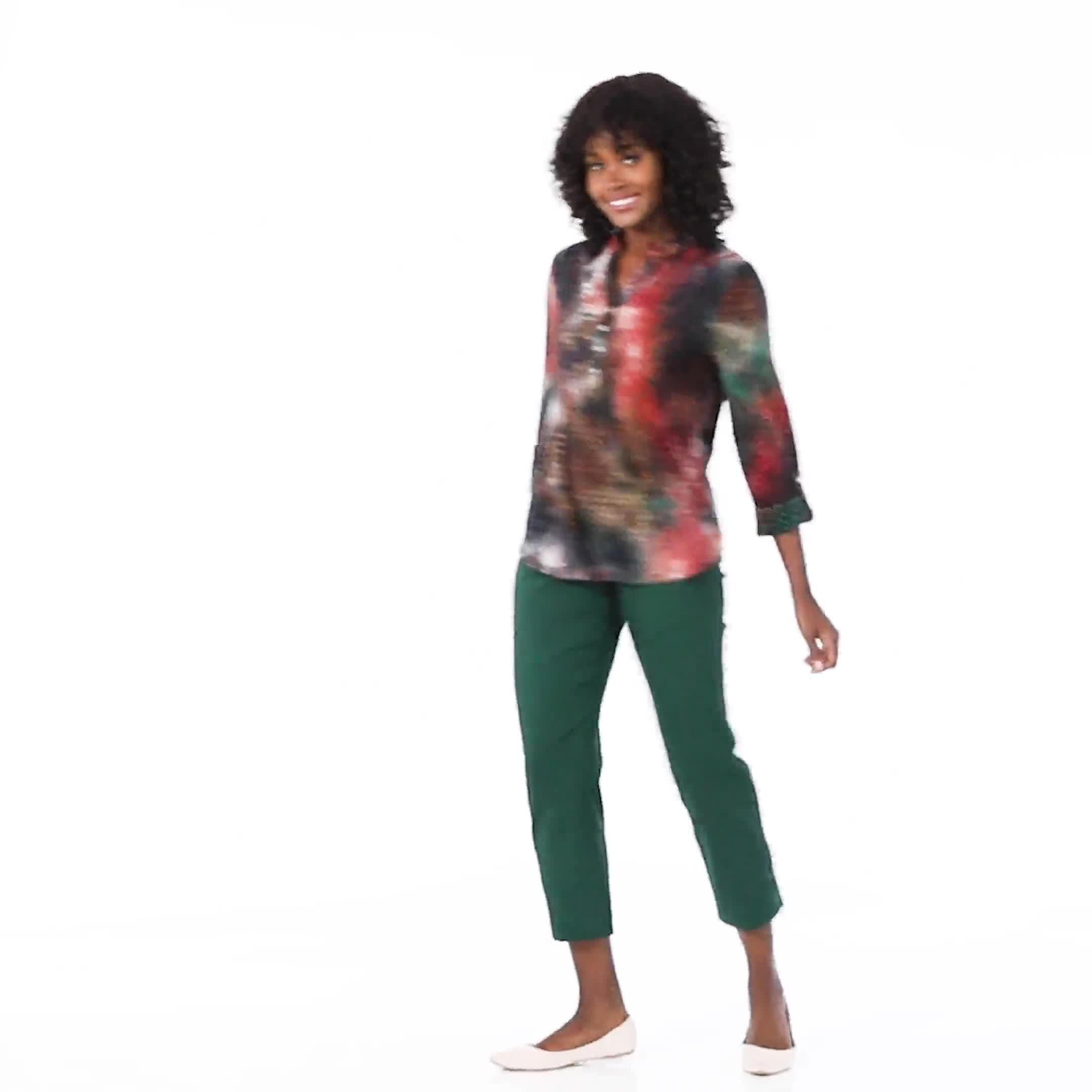 Roz & Ali Lagoon Tie Dye Jaquard Popover - Video