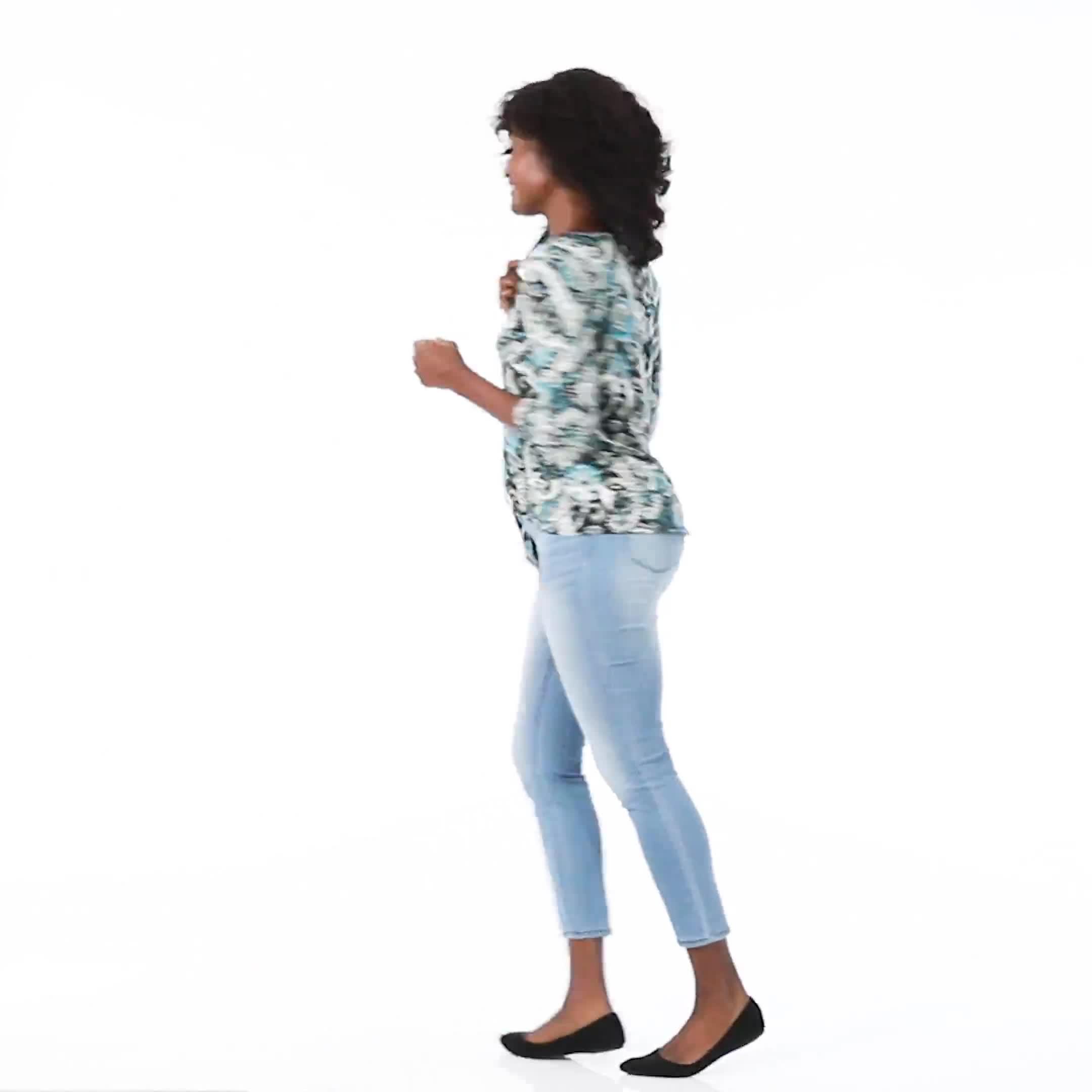 Westport Bohemian Print  Knit Top - Video