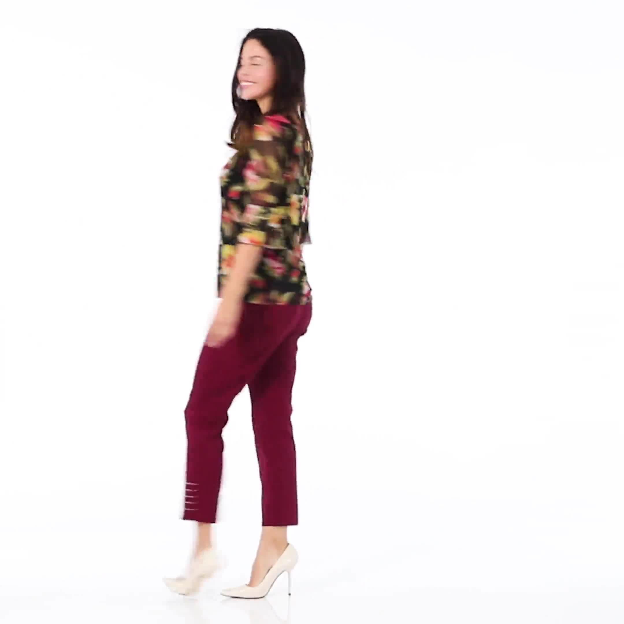Westport Floral Mesh Ruffle Sleeve Top - Video