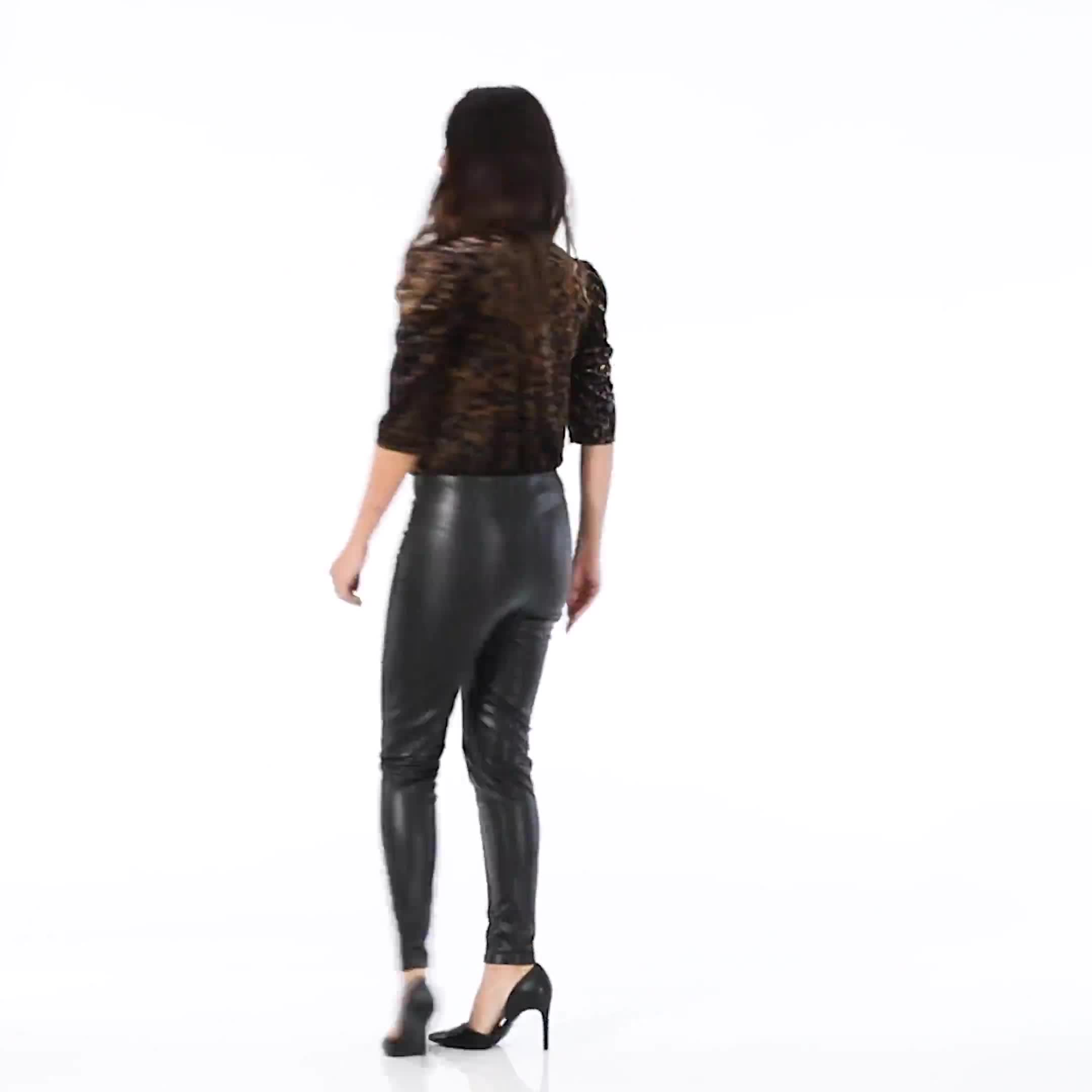 Pull on Faux Leather Pant - Misses - Video
