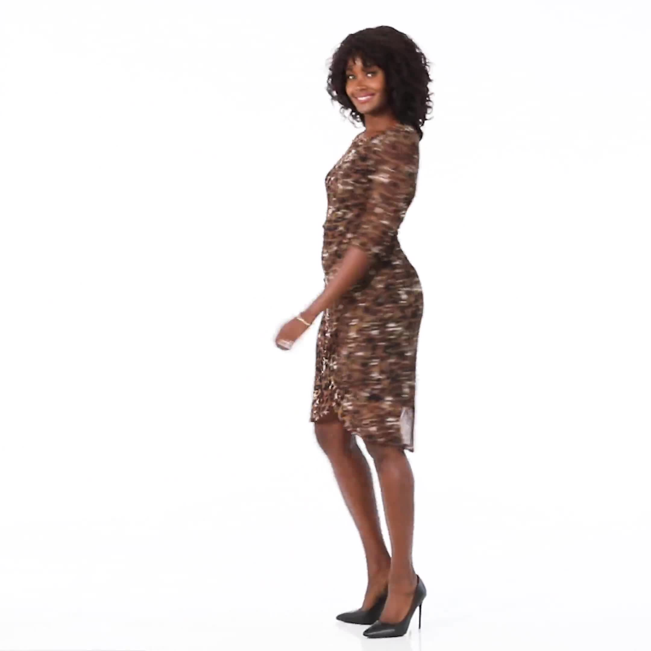 Leopard Faux Wrap Dress - Video
