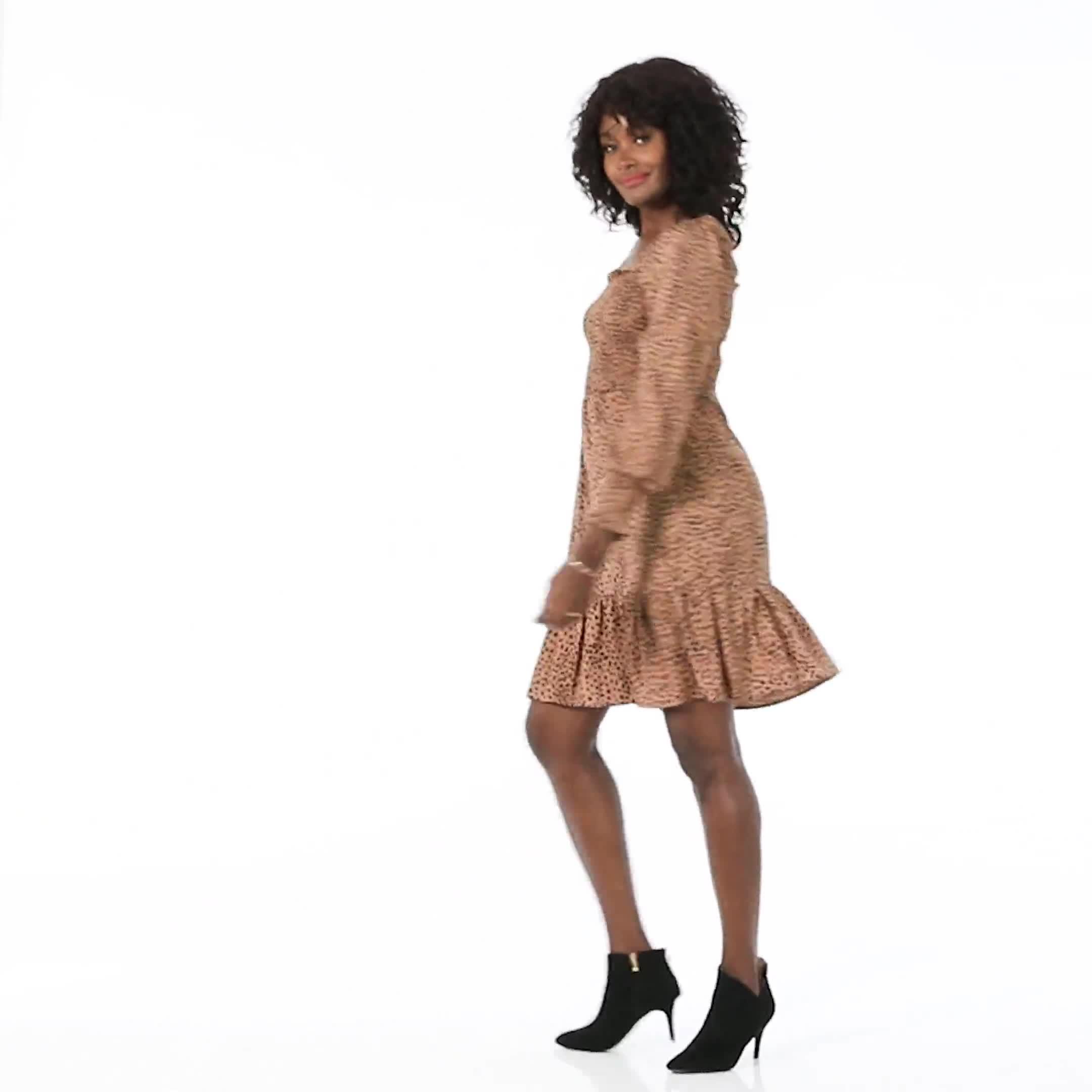 Smocked  Cheetah Dress - Misses - Video