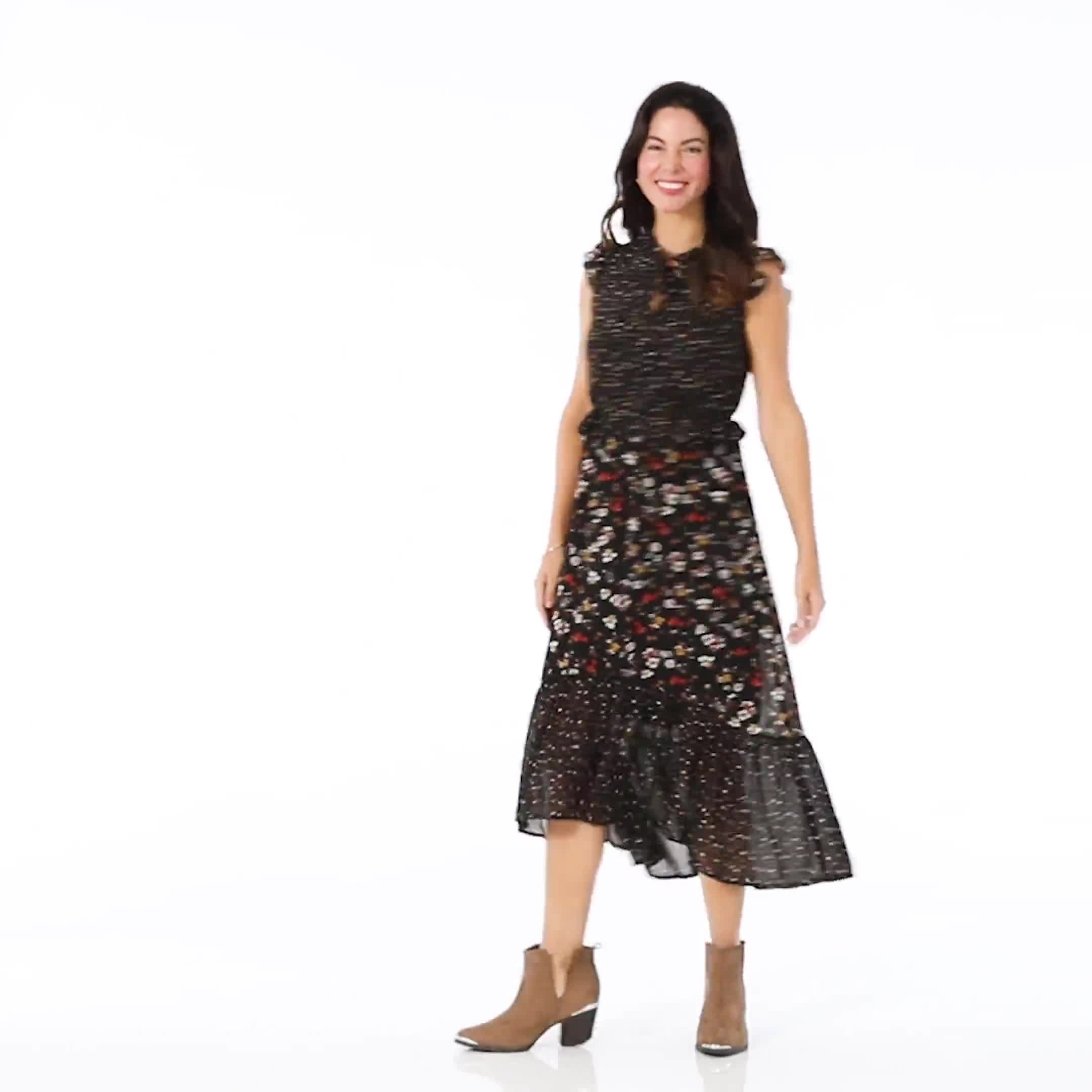 Ditsy Peasant Dress - Misses - Video