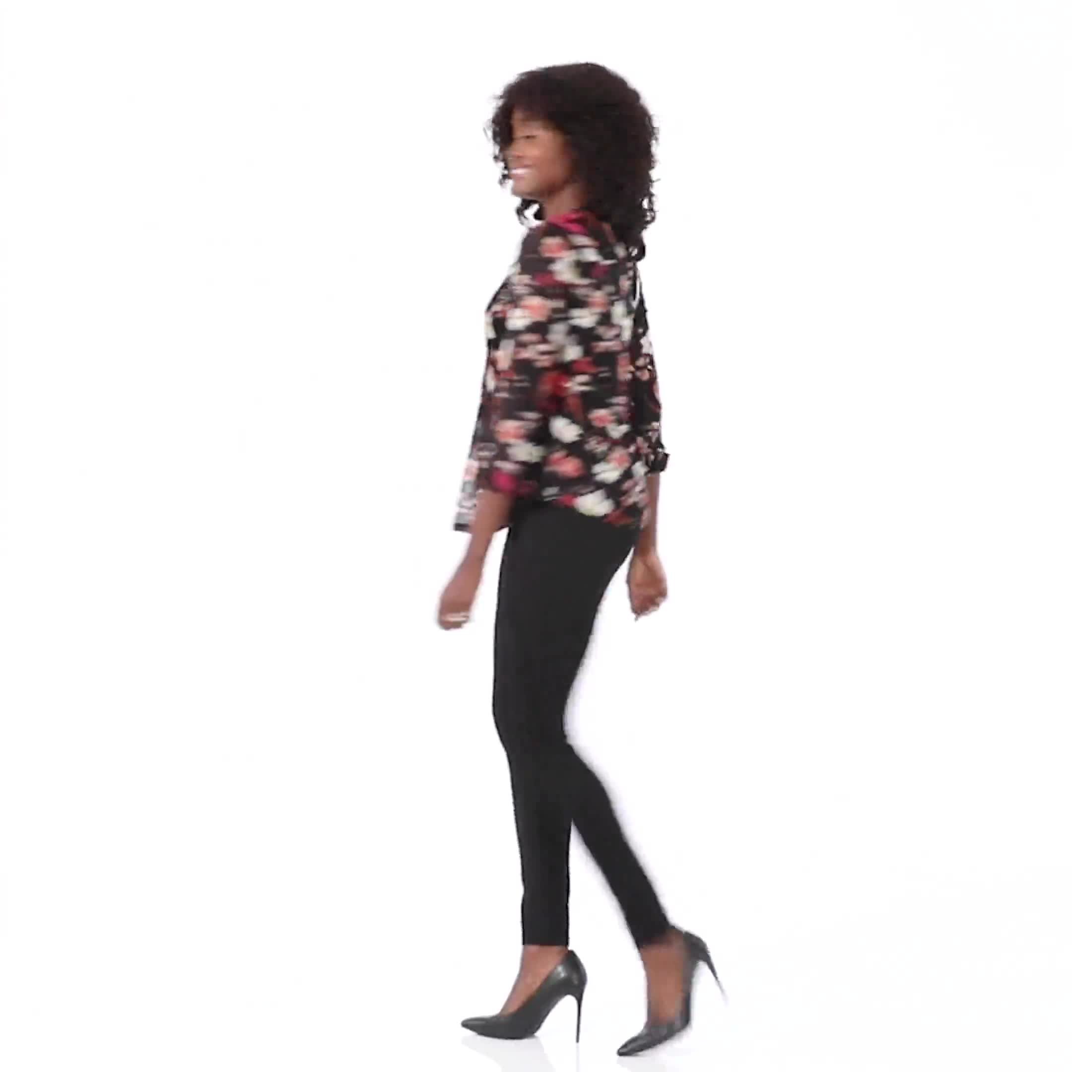 Dressbarn Paisley Pintuck Woven Popover - Video
