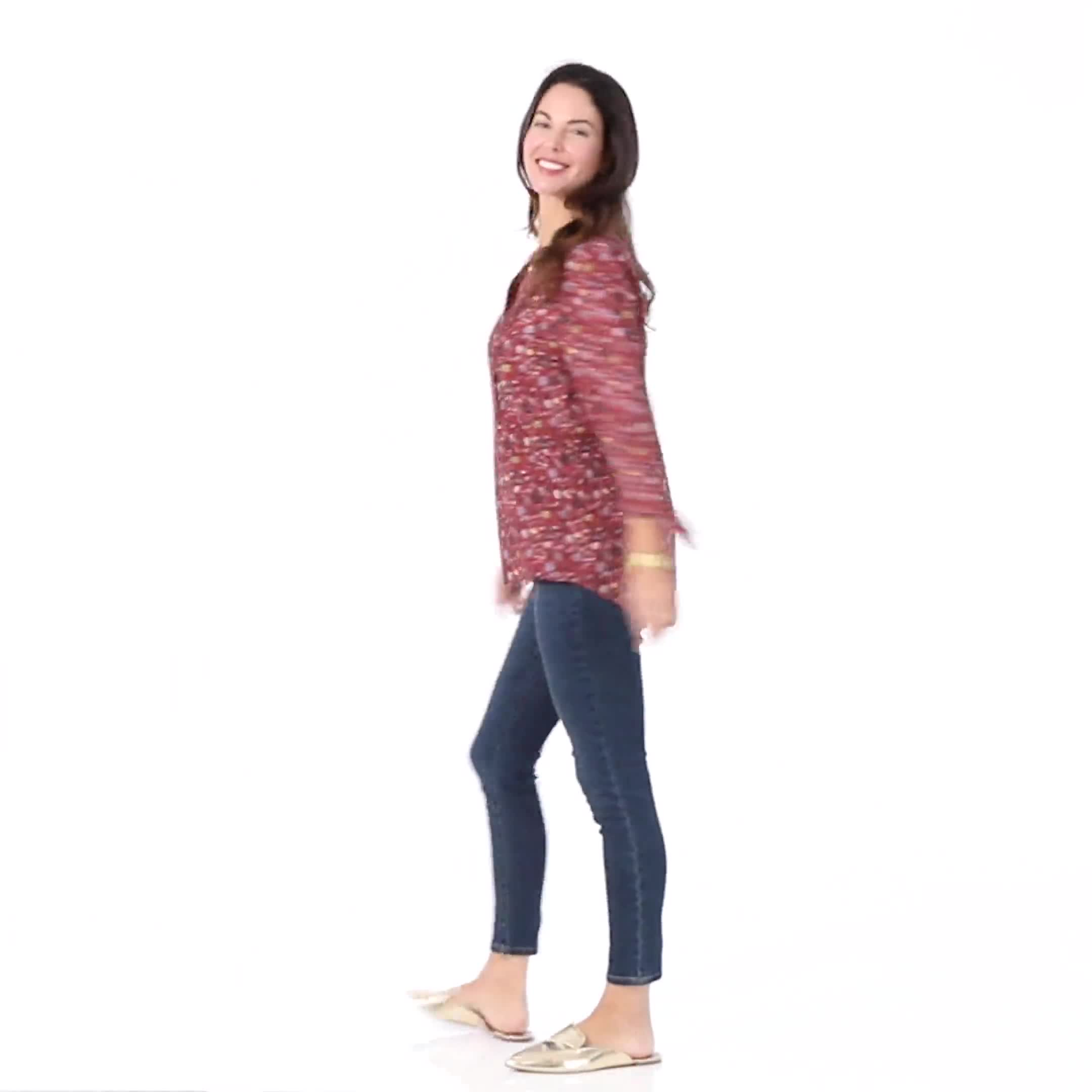 Ditsy Floral Pintuck Woven Popover - Video
