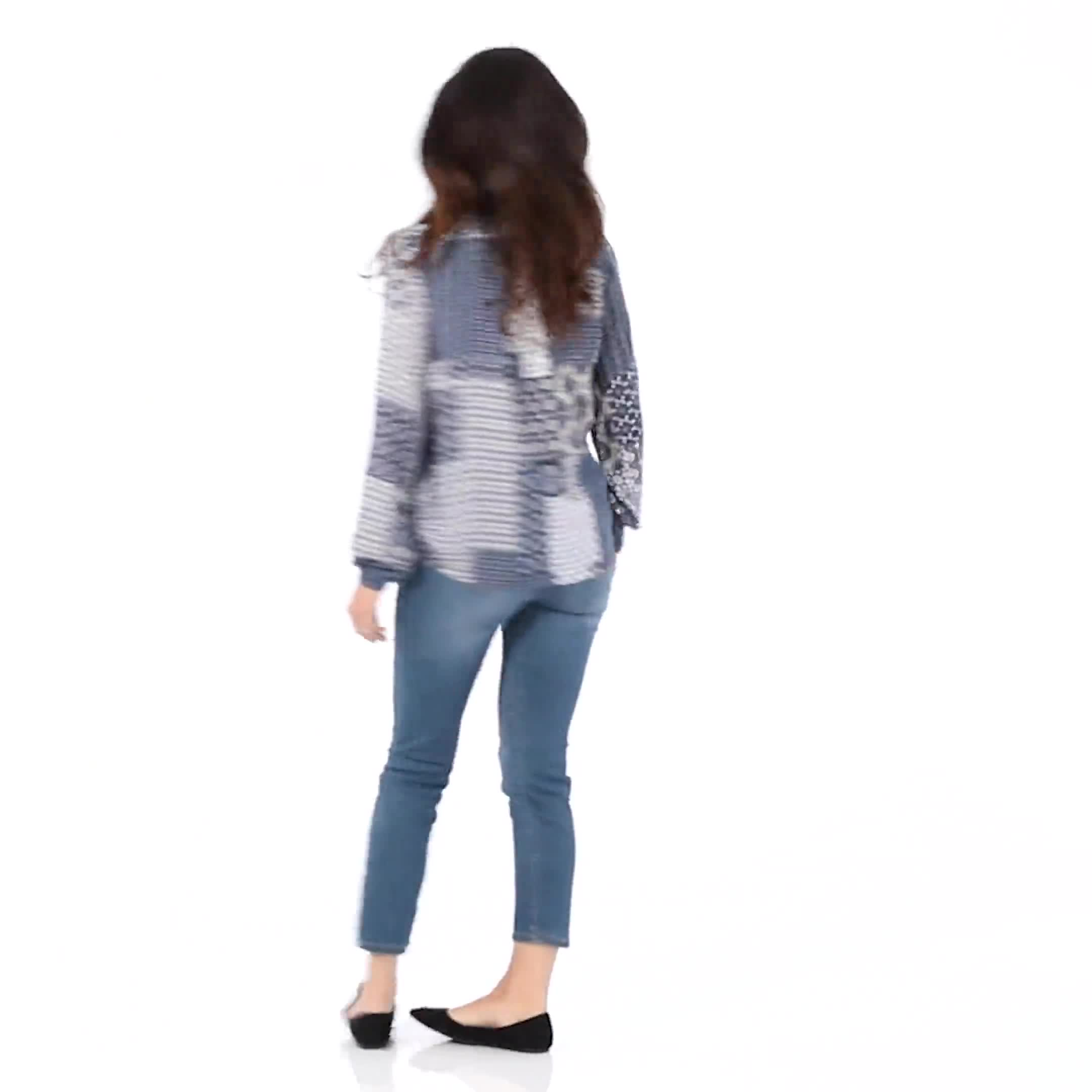 Westport Patchwork Wrap Blouse - Video