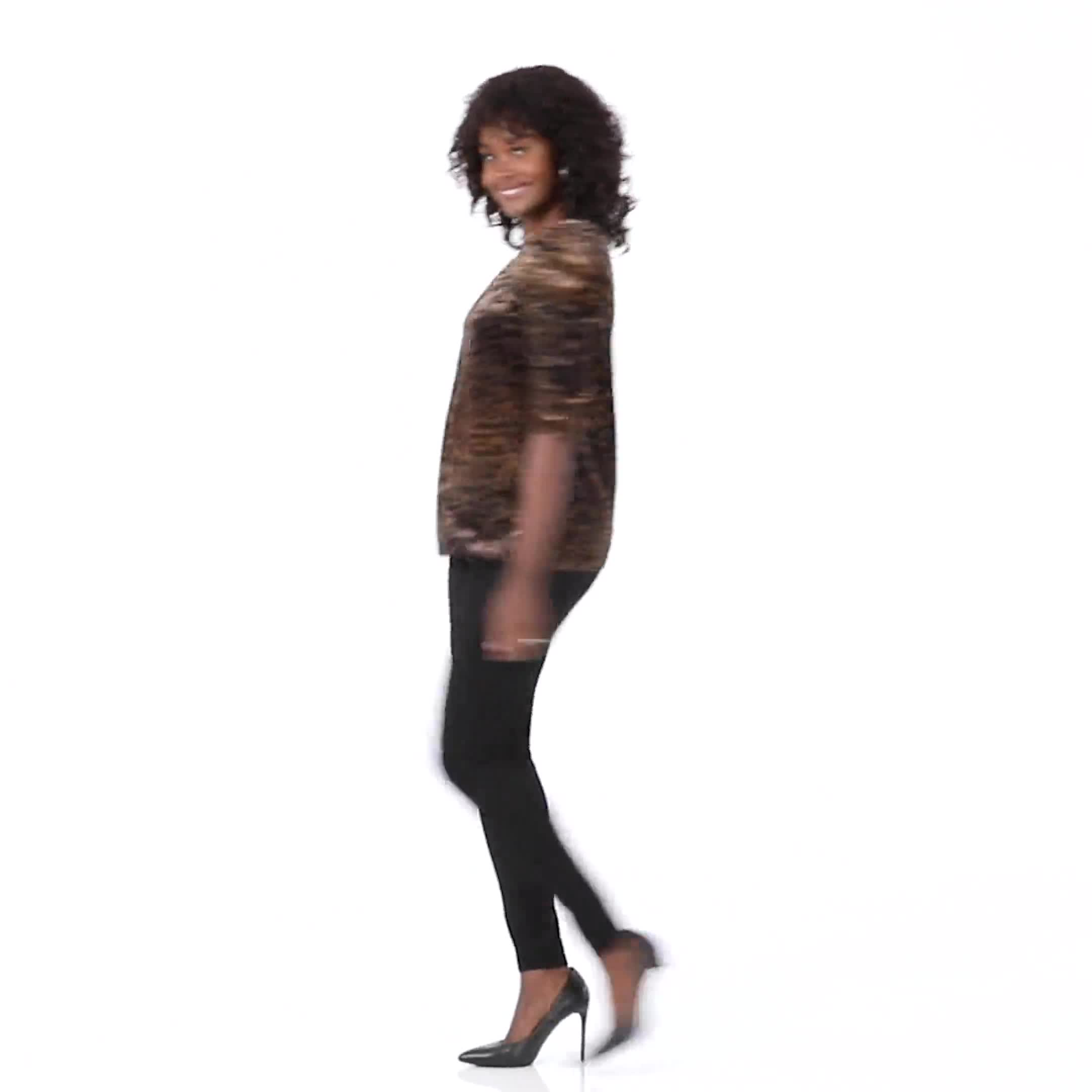 Ponte Pull On Legging with Faux Pockets and Rivet Trim - Misses - Video
