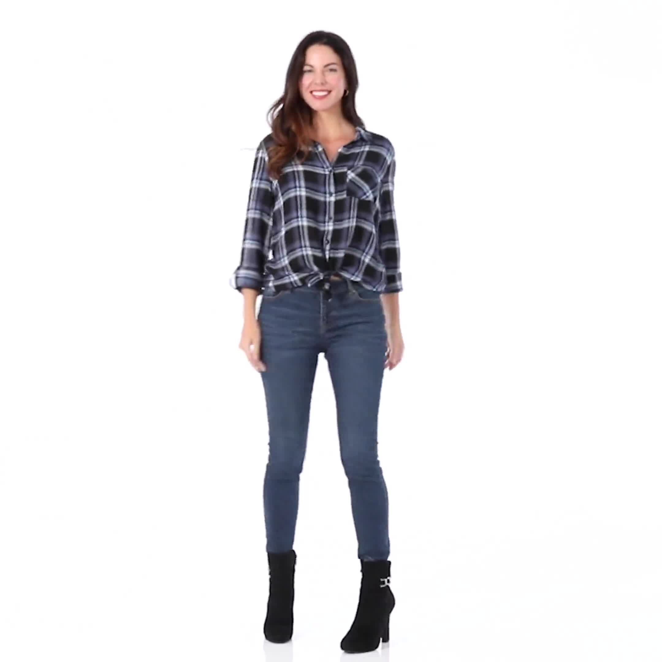 "Denim Friendly Plaid ""To Tie Or Not To Tie"" Shirt - Video"