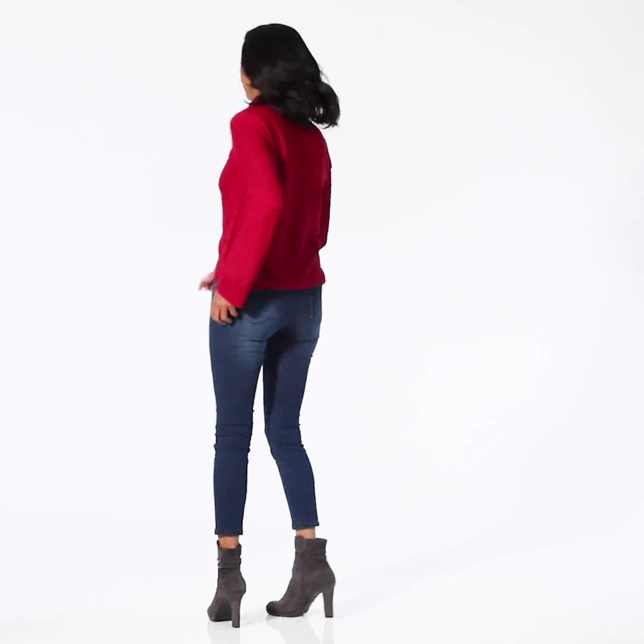 Westport Novelty Sleeve Curved Hem Sweater - Video