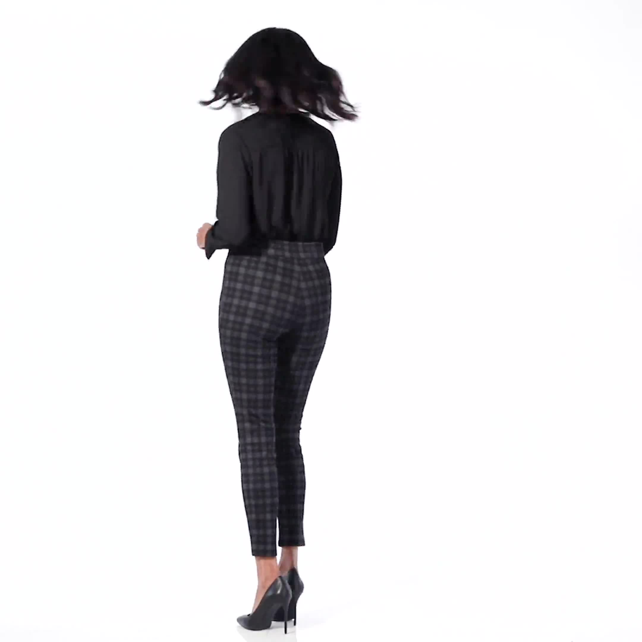 Ponte Pattern Pull on Slim Legging - Video