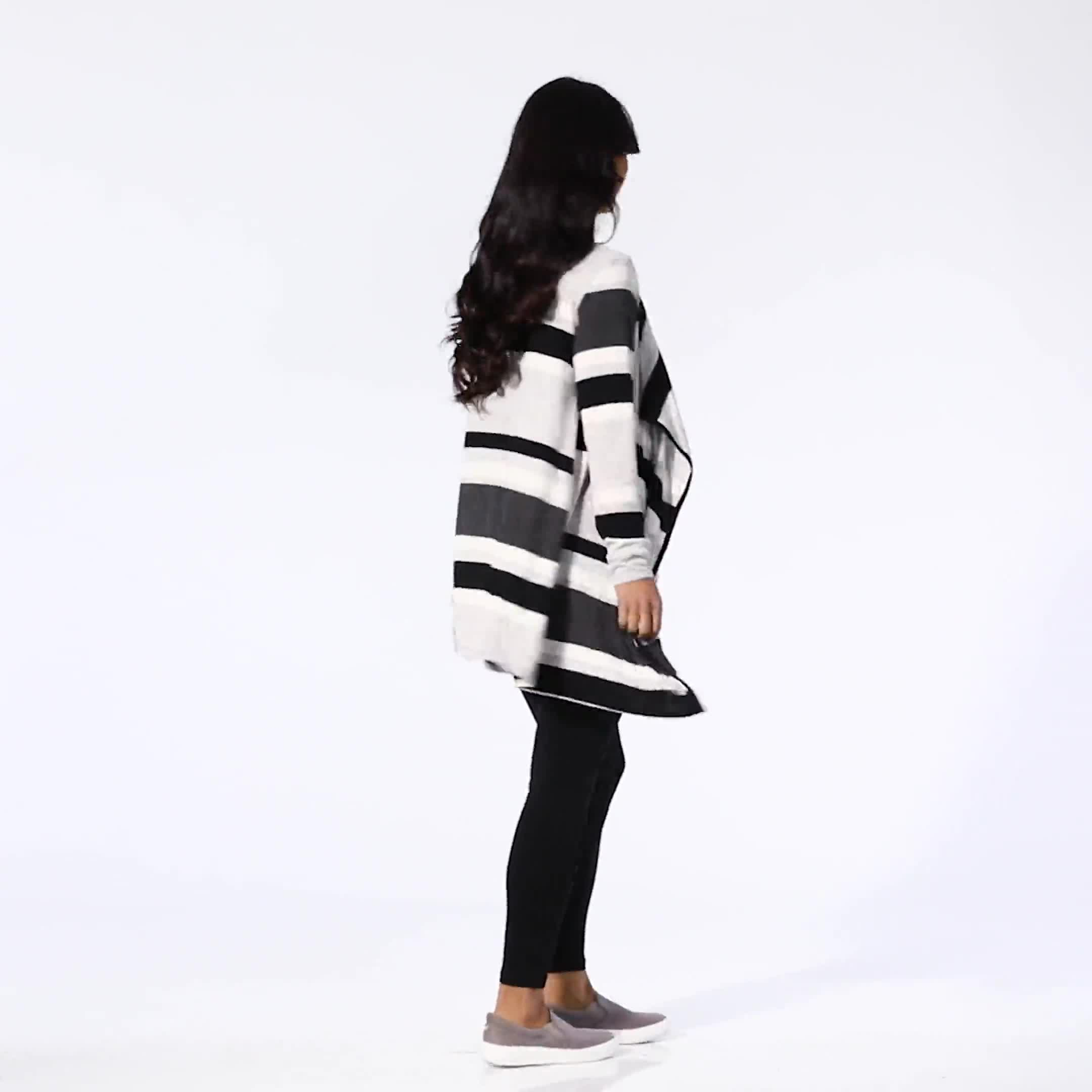 DB Sunday Hacci Sweater Knit Stripe Cardigan - Video