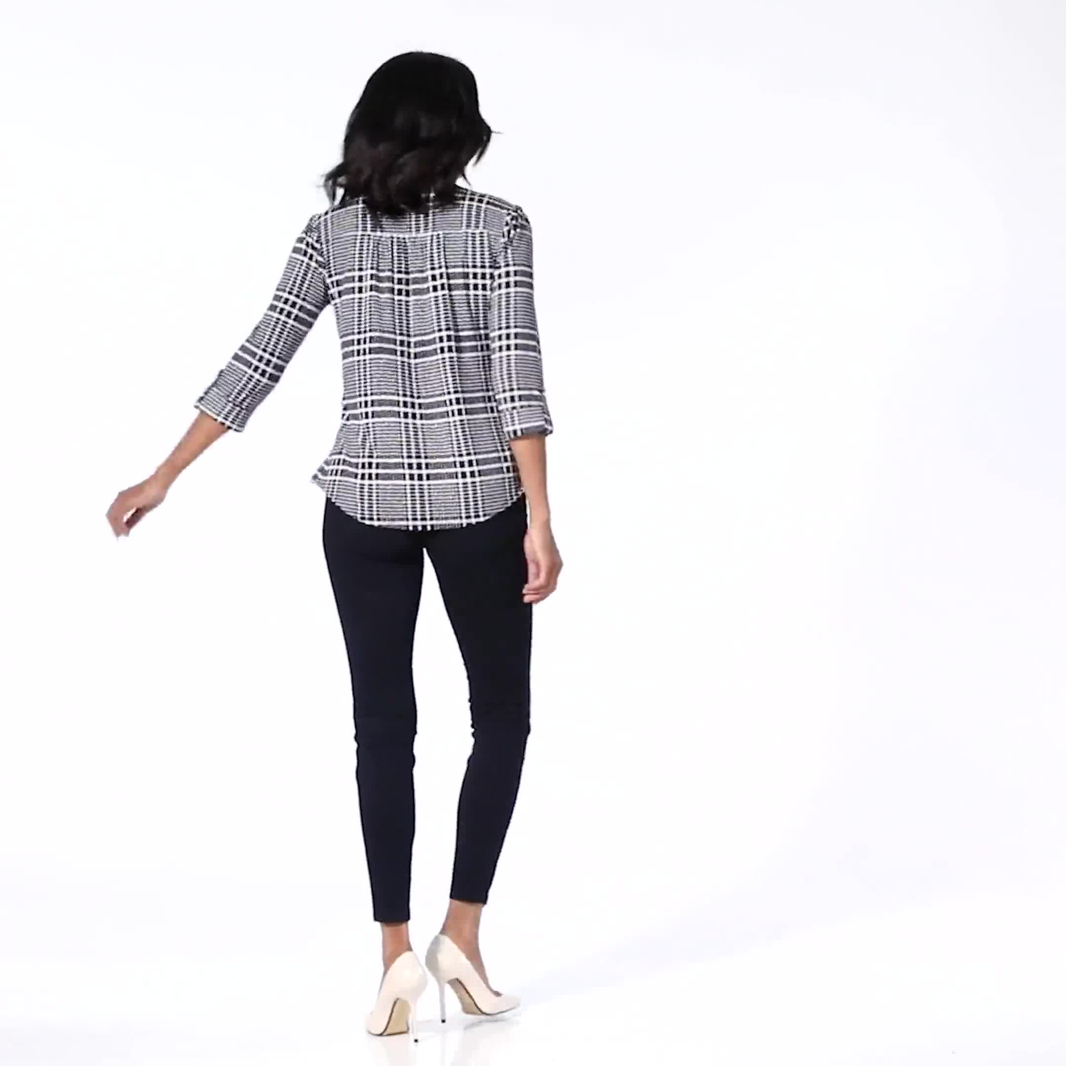 Ultra Stretch Denim Pull on Legging - Misses - Video