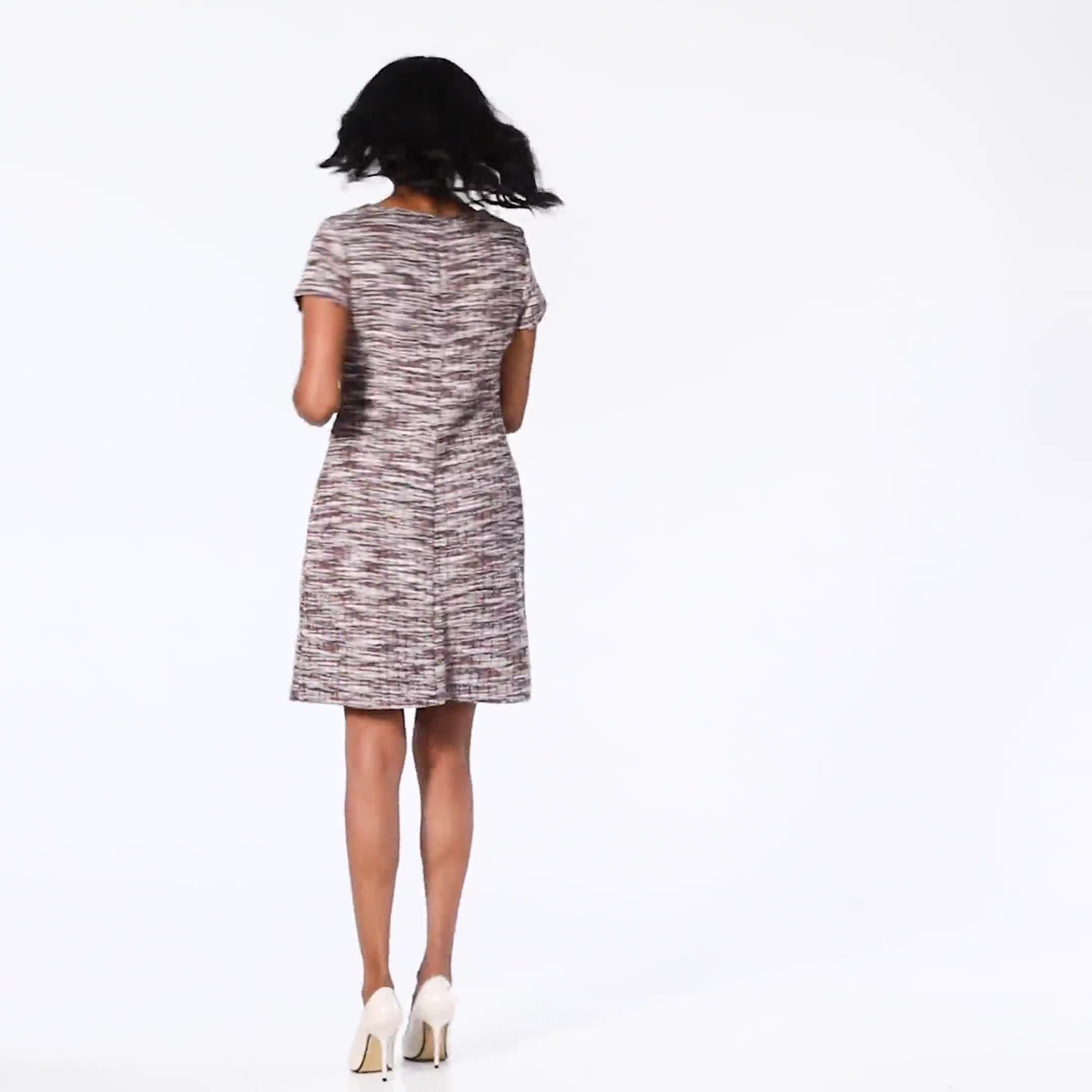Boucle Sheath Dress - Video