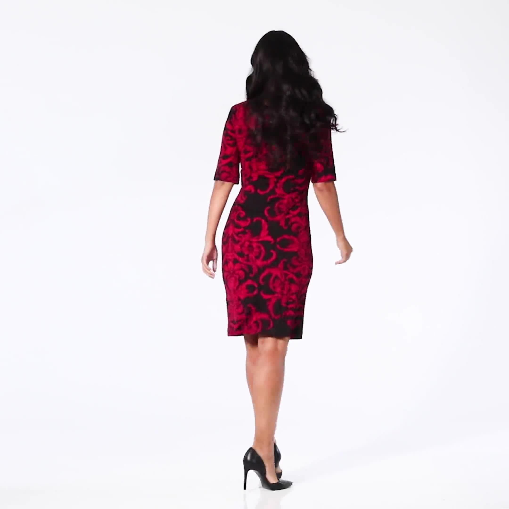 Scroll Sheath Dress - Video