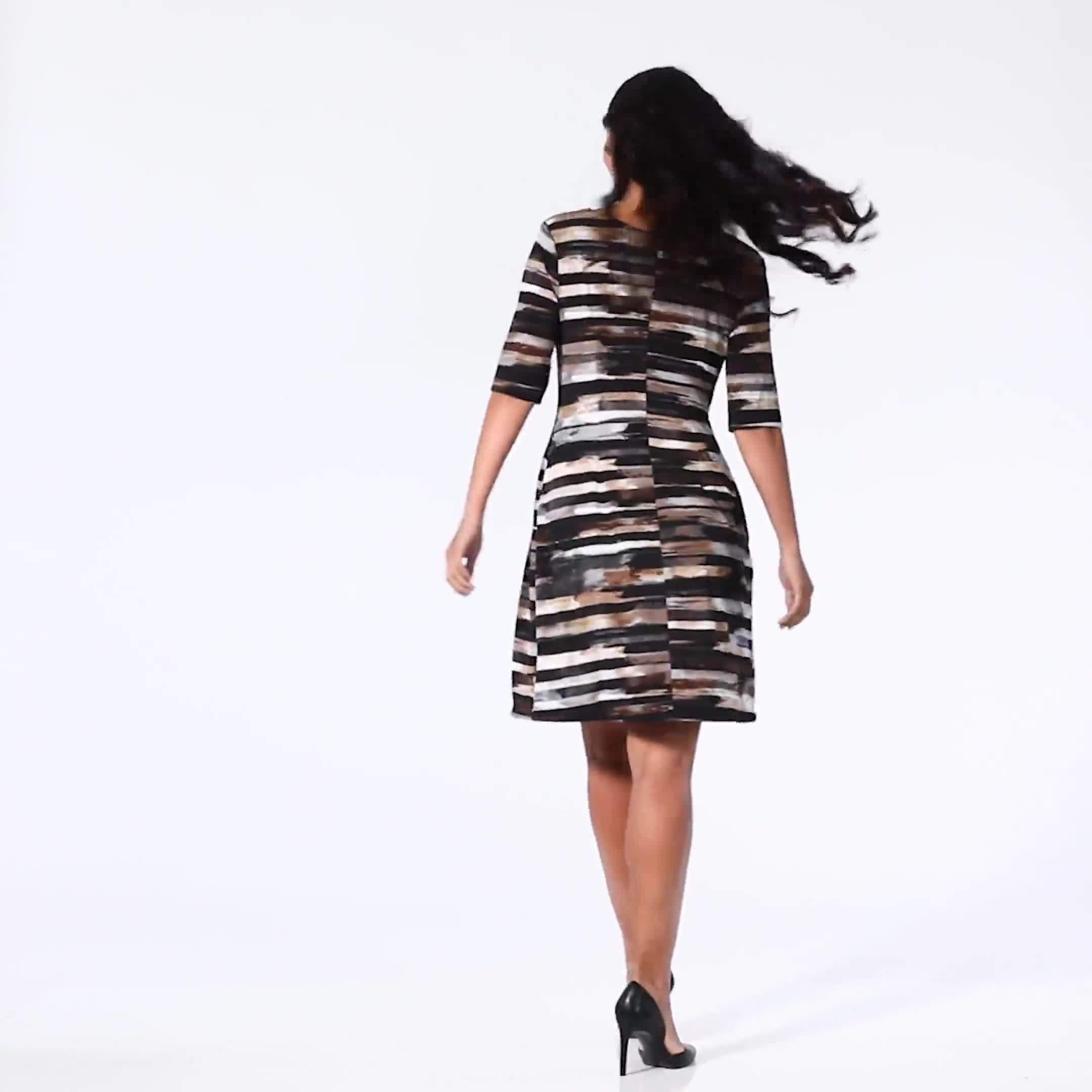 Brush Stroke Stripe Dress - Video