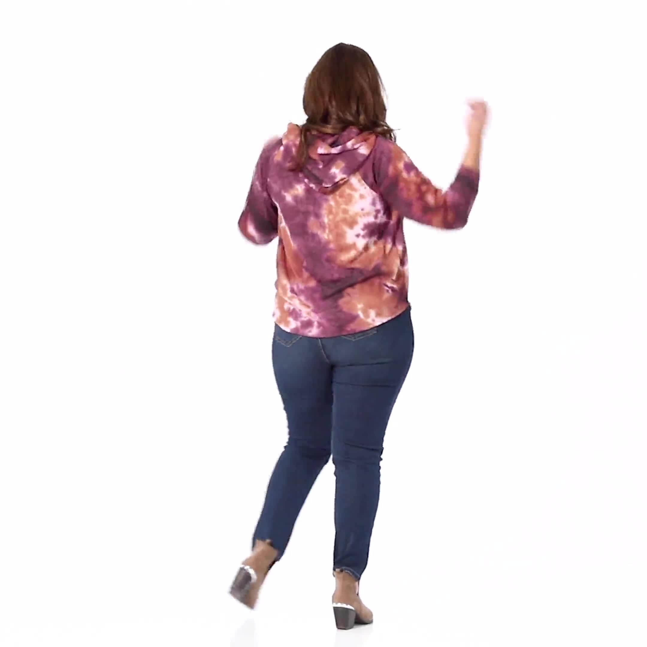 Tie Dye Thermal Knit Hoodie - Video