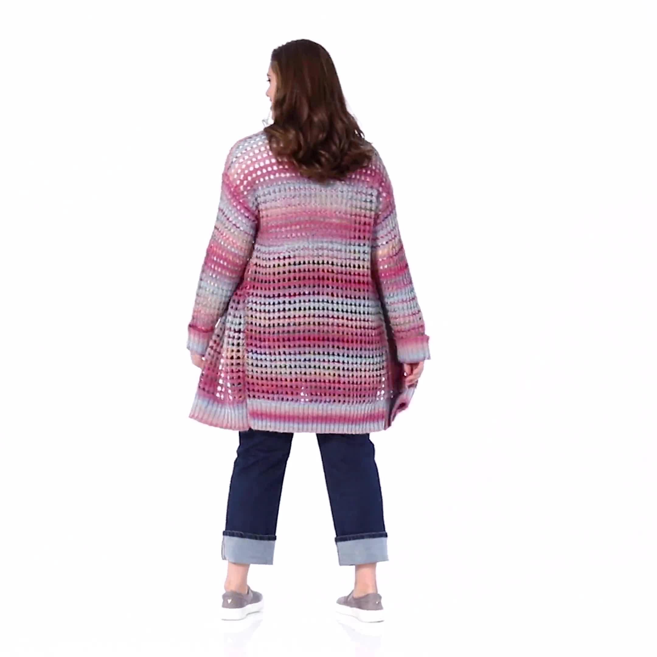 Westport Multi-Color Duster Cardigan  - Plus - Video