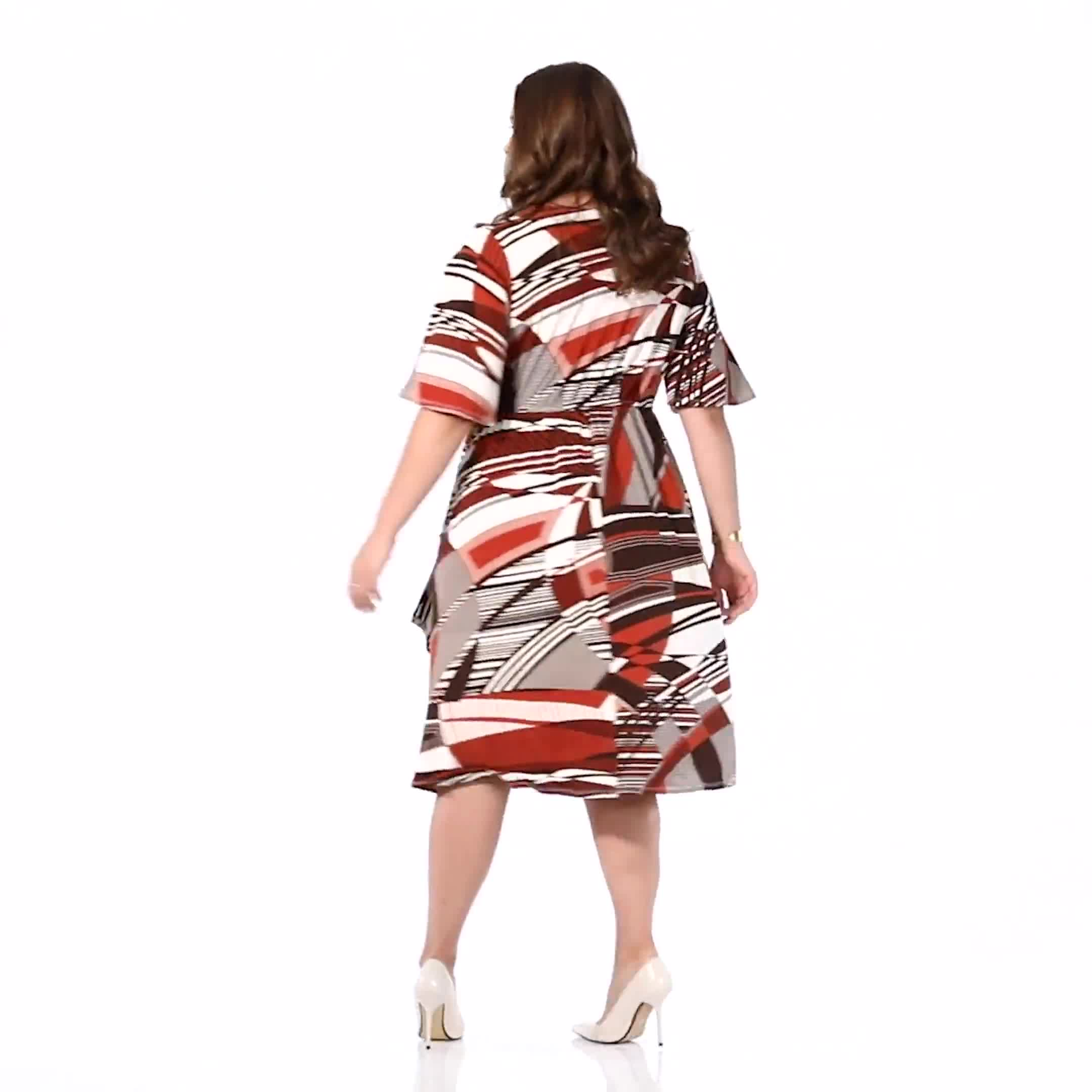 Modern Wrap Dress - Plus - Video