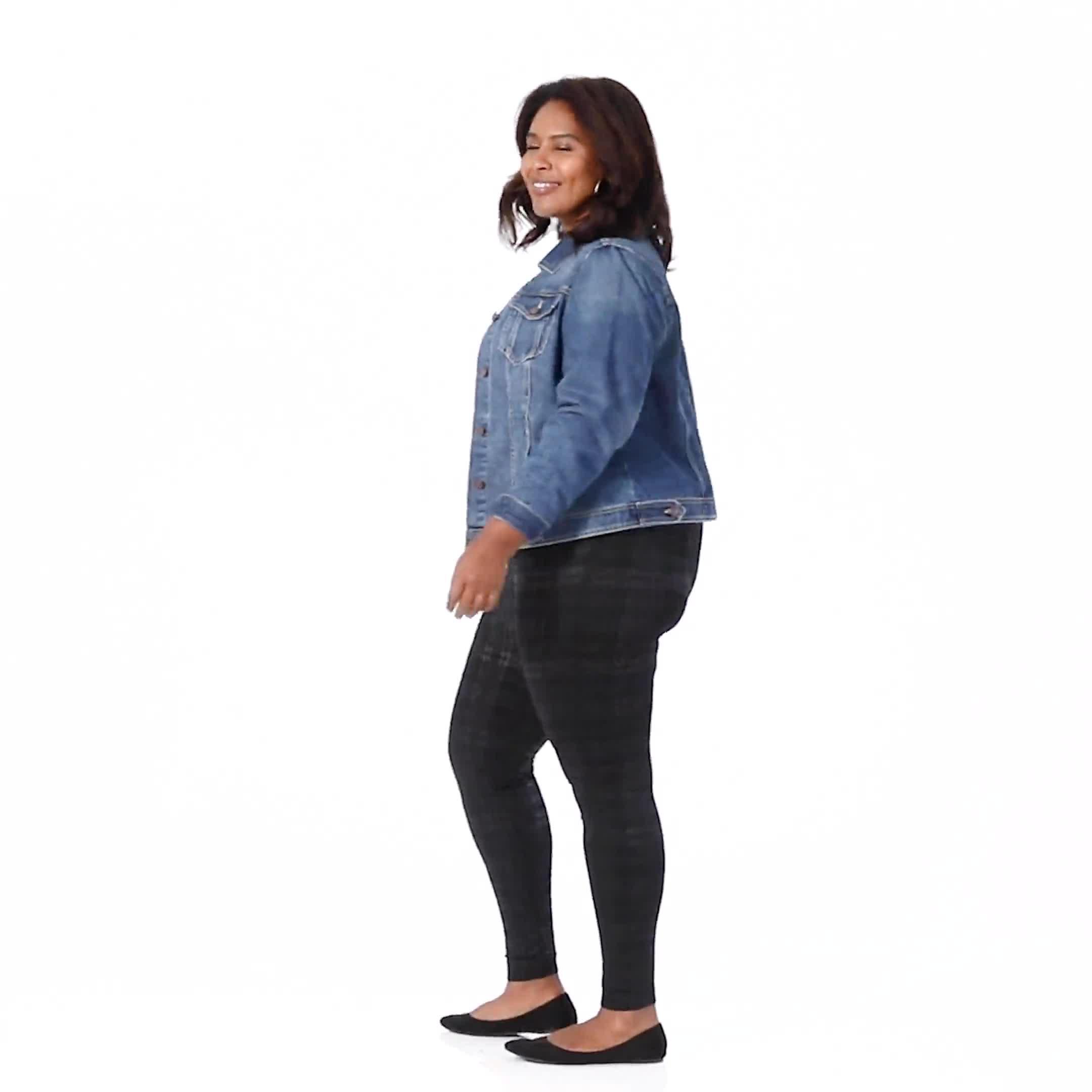 Elo Sportwear Black Plaid Legging - Plus - Video