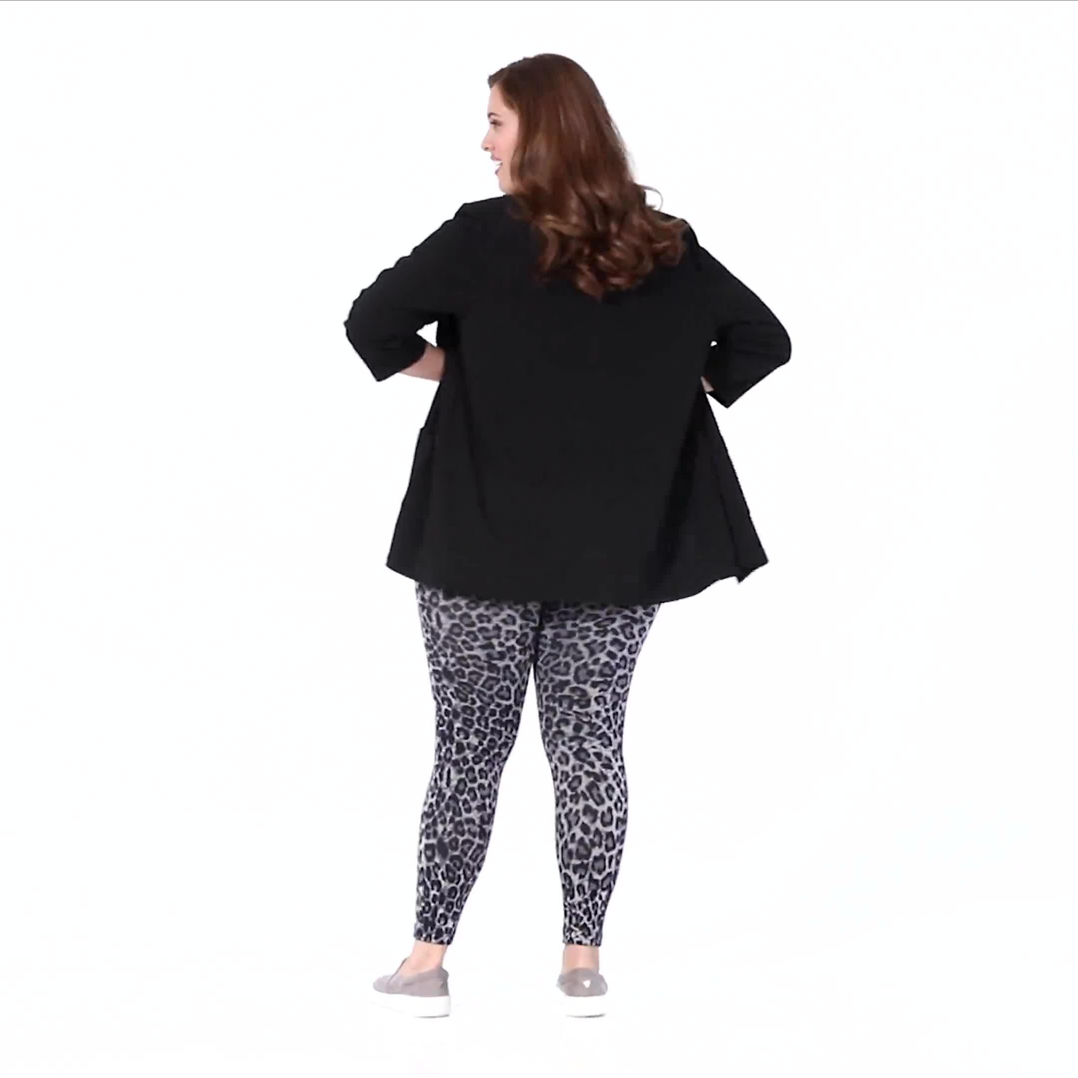 Zac & Rachel Animal Print Legging - Plus - Video