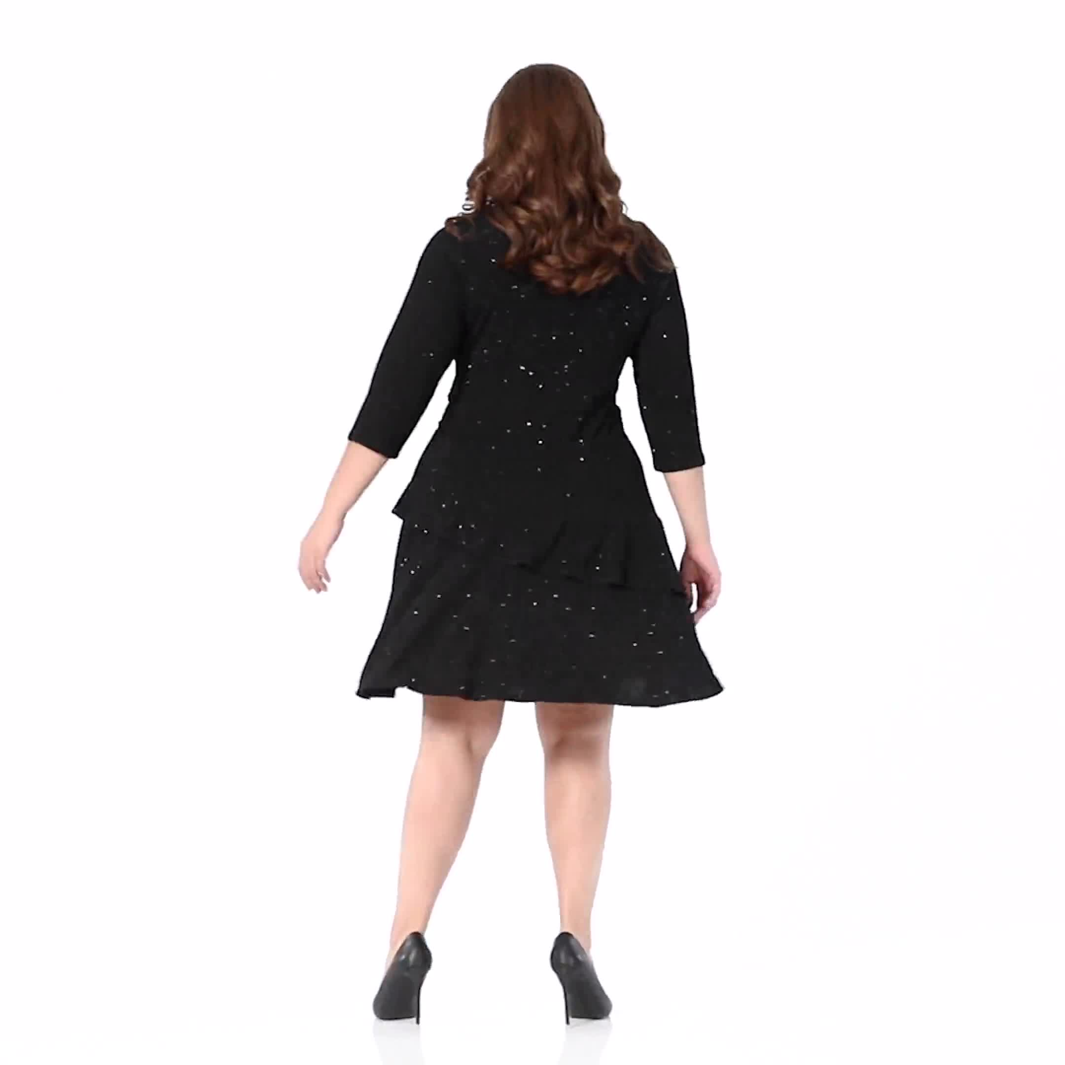 Tiered knit Dress - Plus - Video
