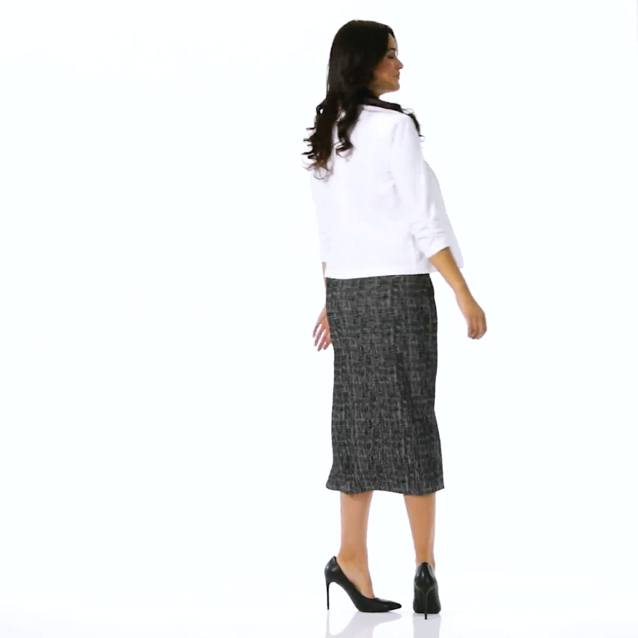 Cinched Sleeve One Button Faux Pocket Notch Collar Topper - Video