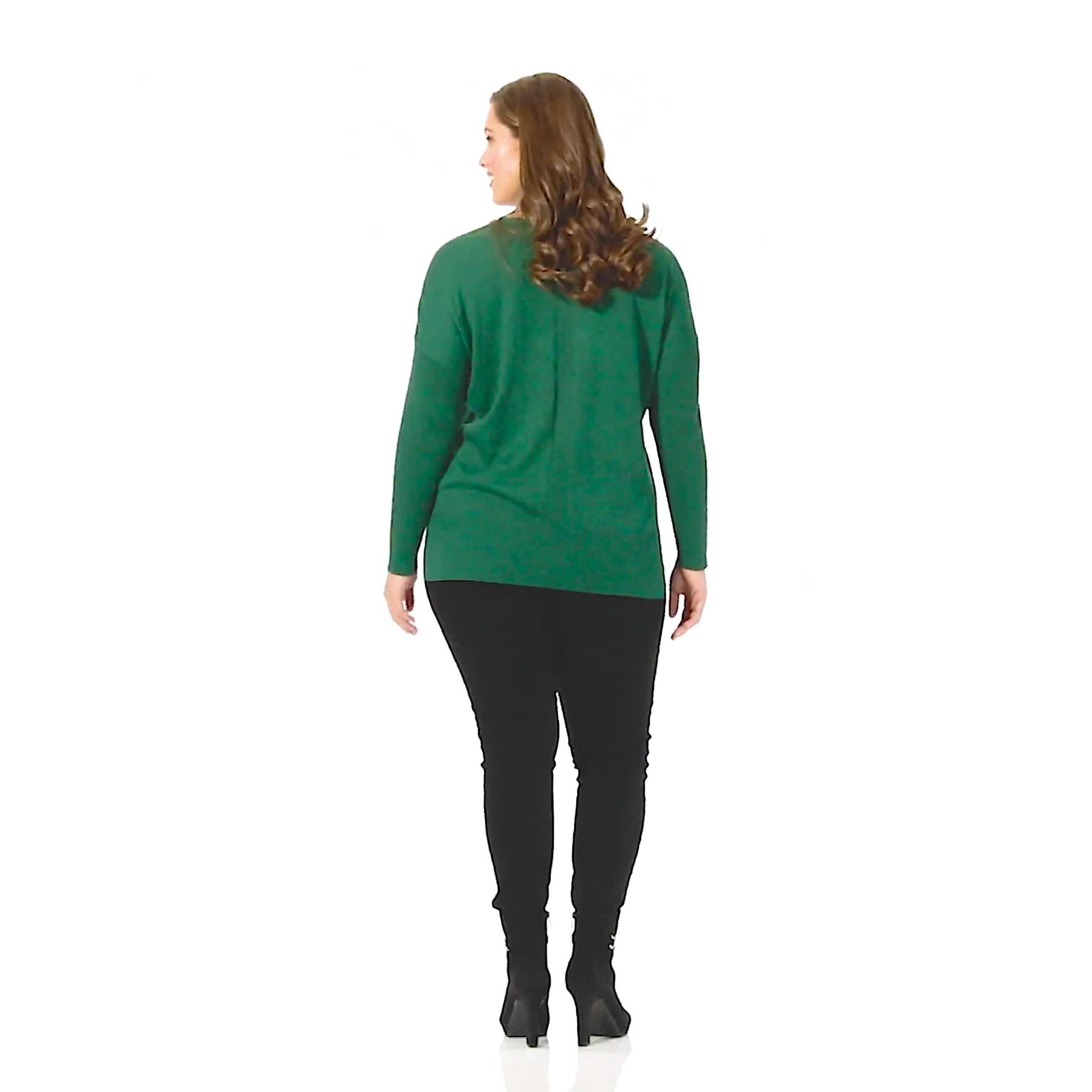 Roz & Ali Beaded Sweater Tunic - Plus - Video