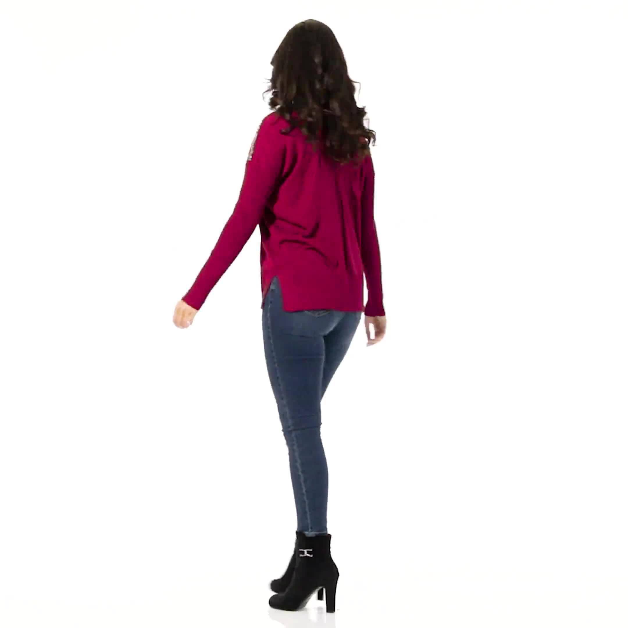 Roz & Ali Beaded Sweater Tunic - Video