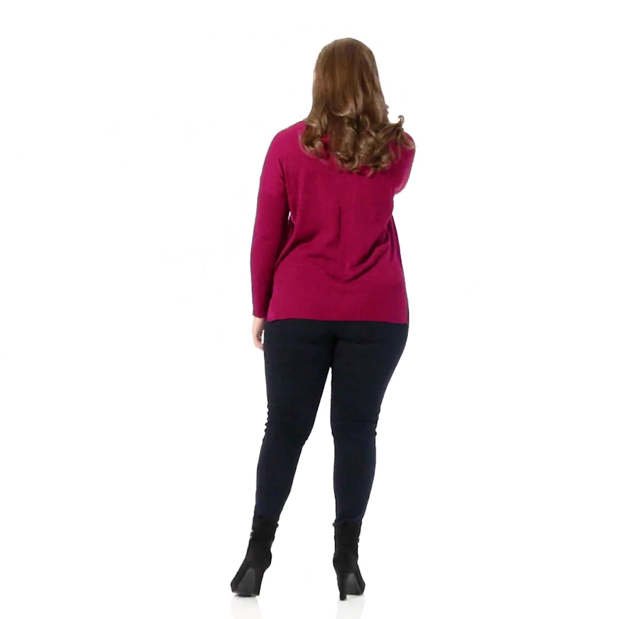 Roz & Ali Beaded Sweater Tunic - Plus - Video
