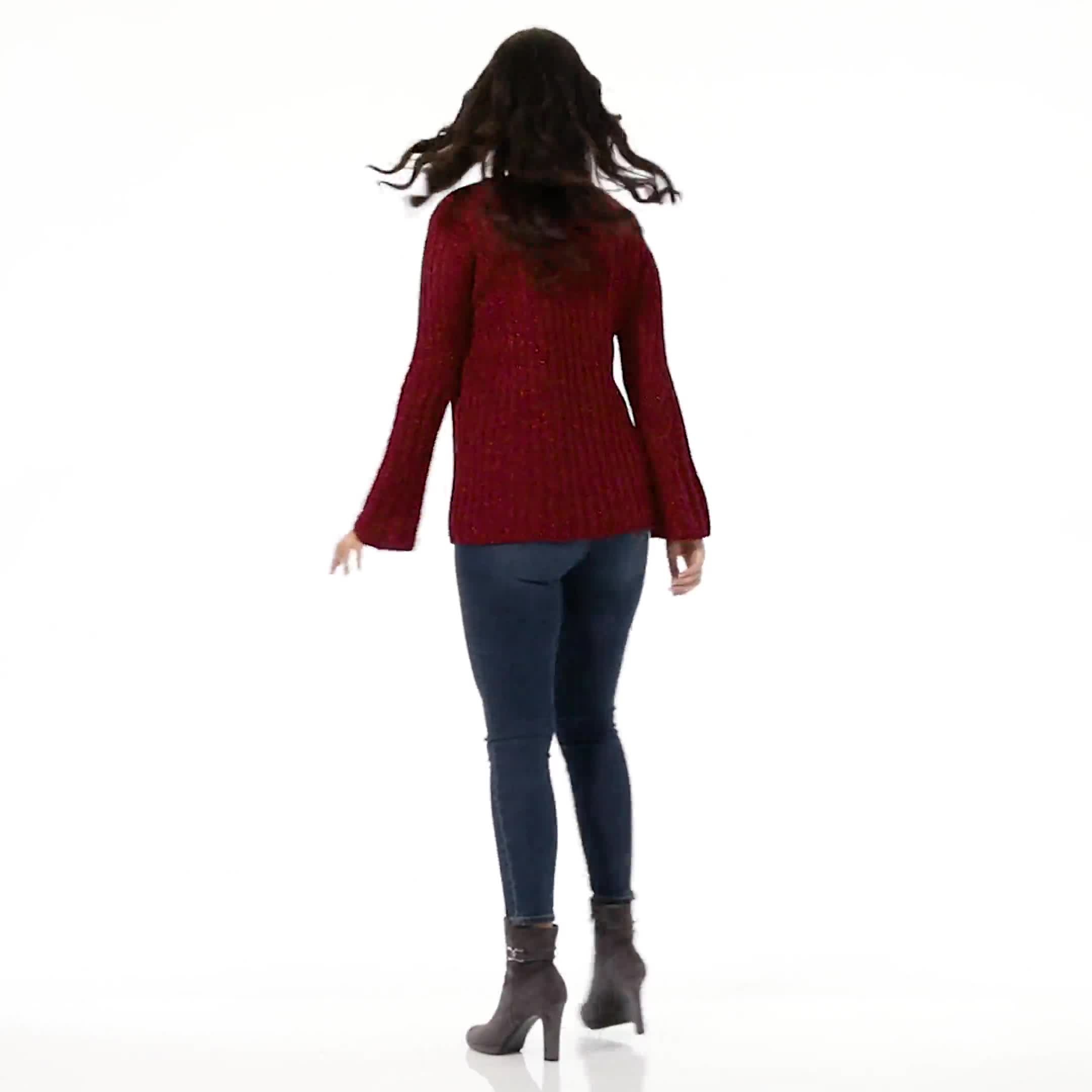 Westport Novelty Yarn Stitch Interest Sweater - Video