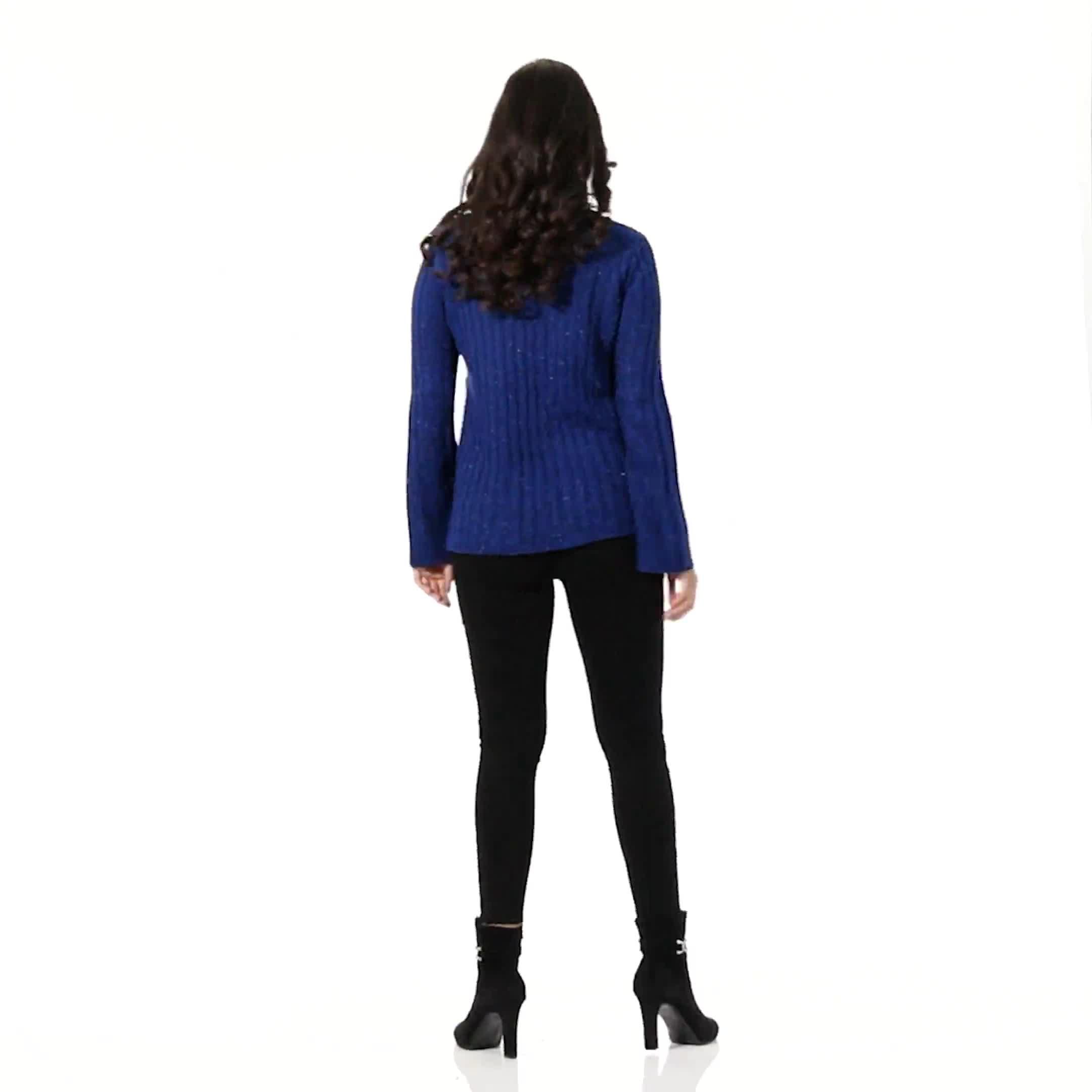 Westport Novelty Yarn Stitch Interest Sweater - Video