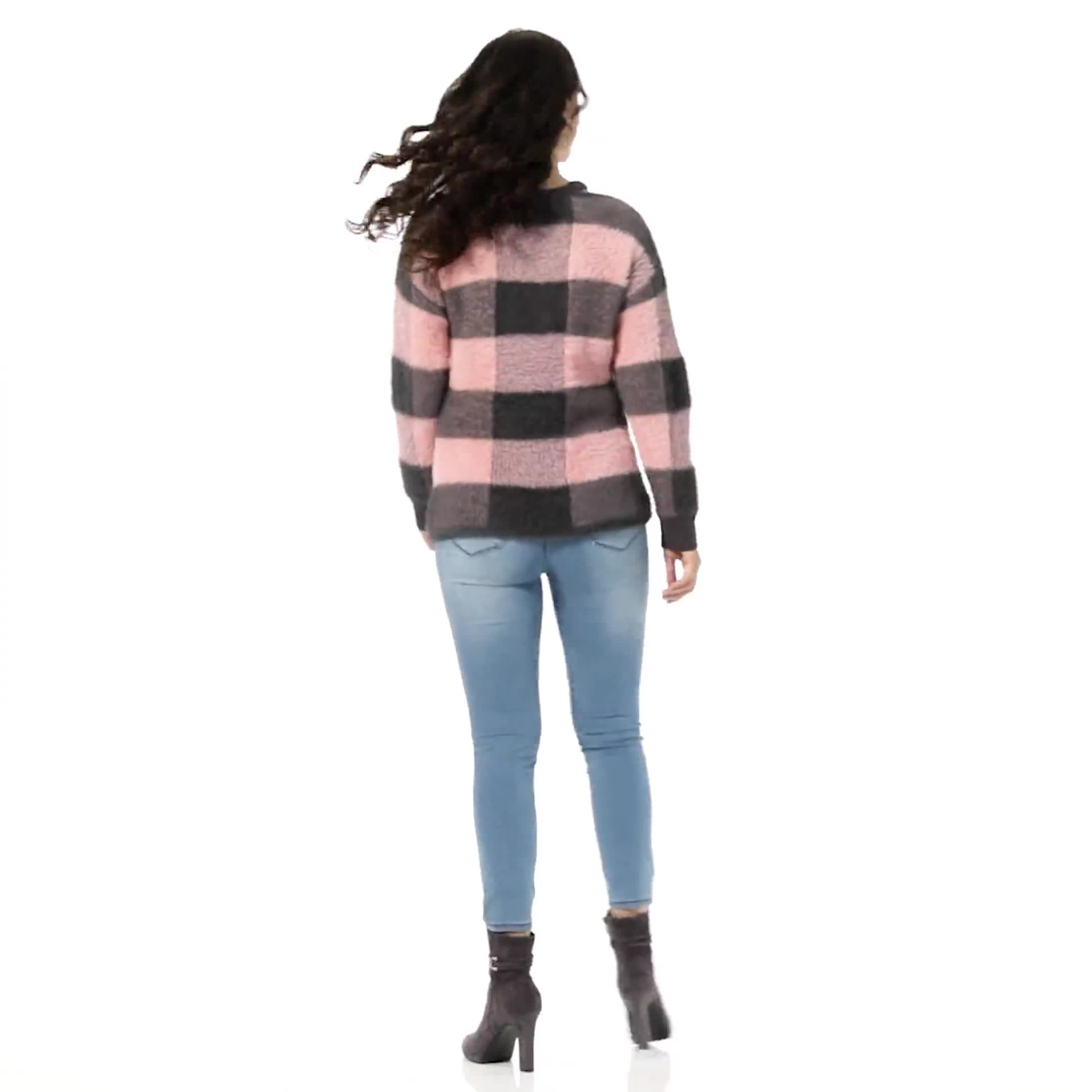 Westport Eyelash Cutout Neck Pullover Sweater - Video