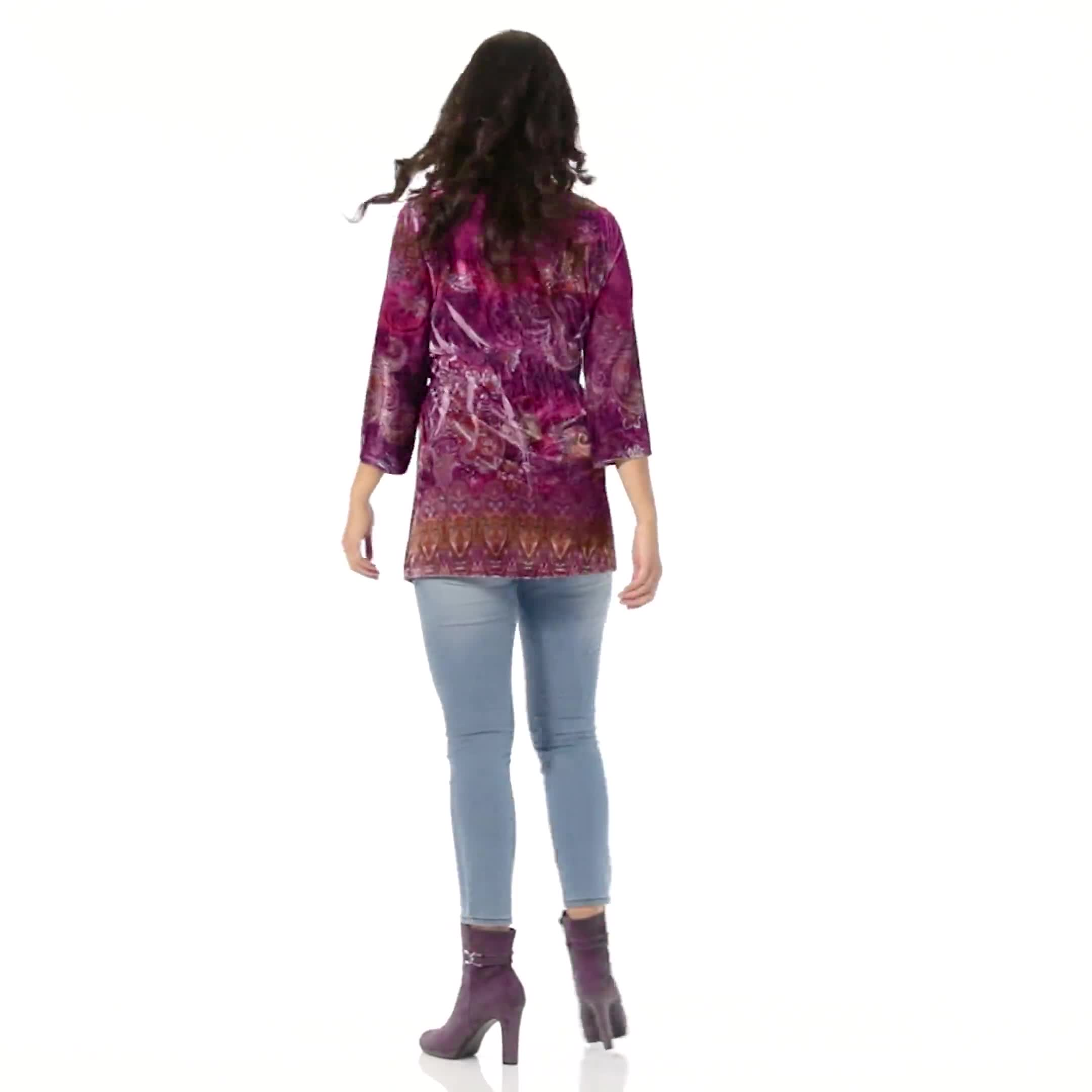 Influential Lady Velvet Knit Tunic Top - Video