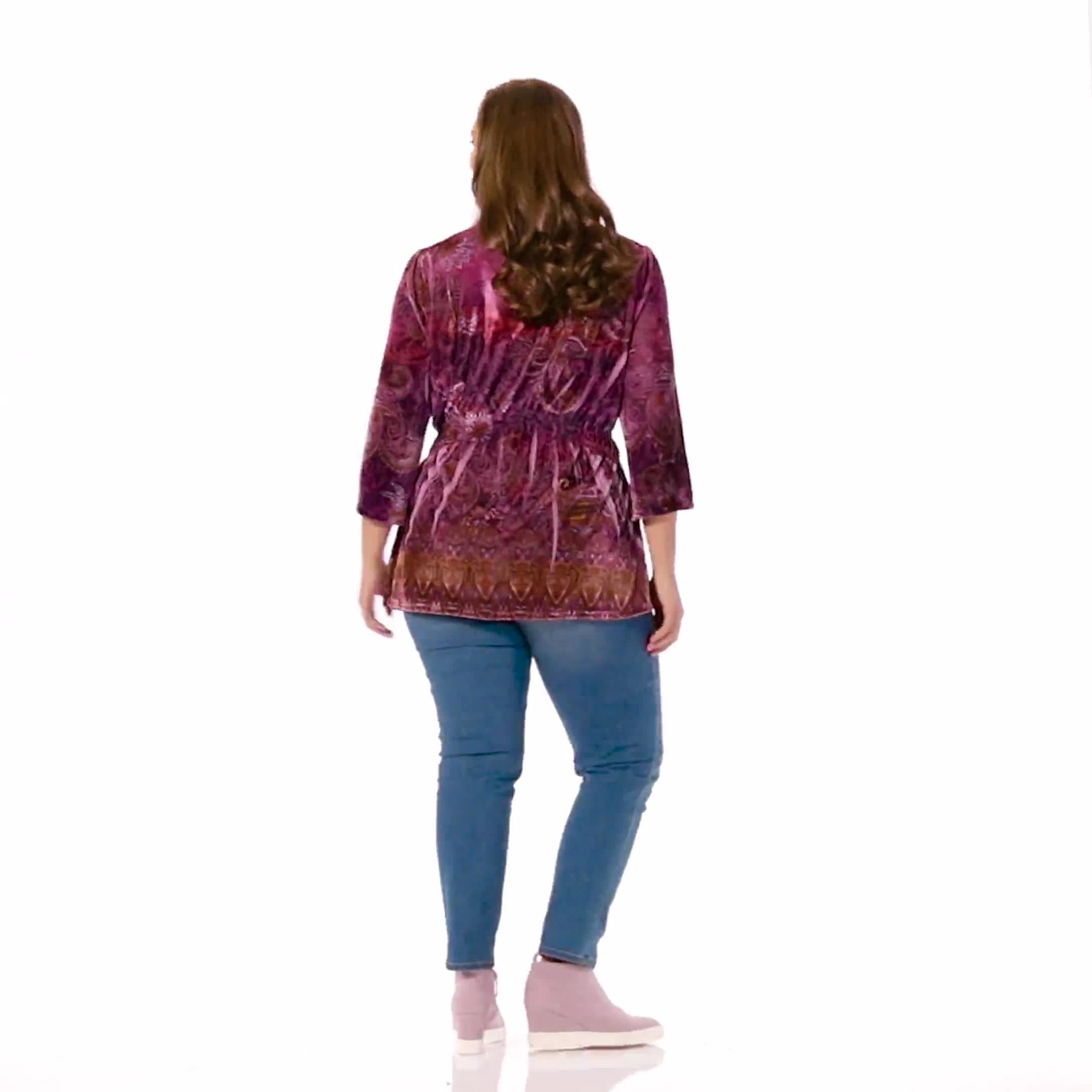 Influential Lady Velvet Knit Tunic Top - Plus - Video