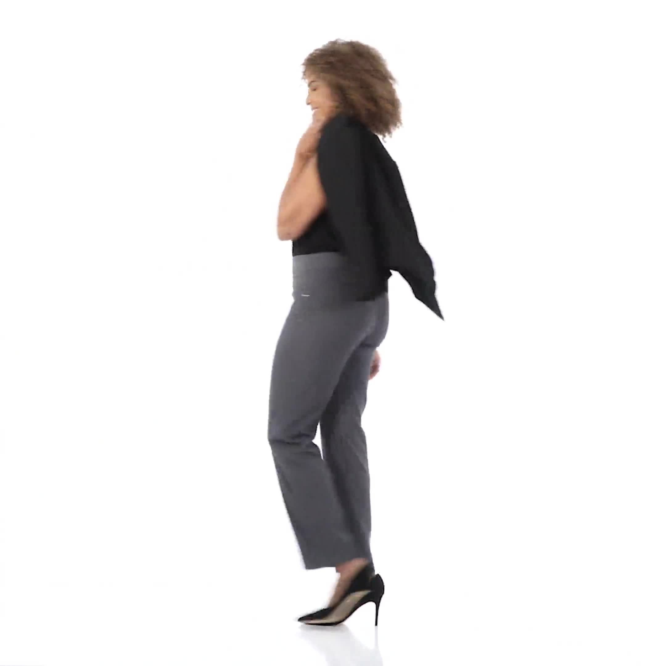 Roz & Ali Secret Agent Tummy Control Pants Cateye Rivets - Average Length - Video