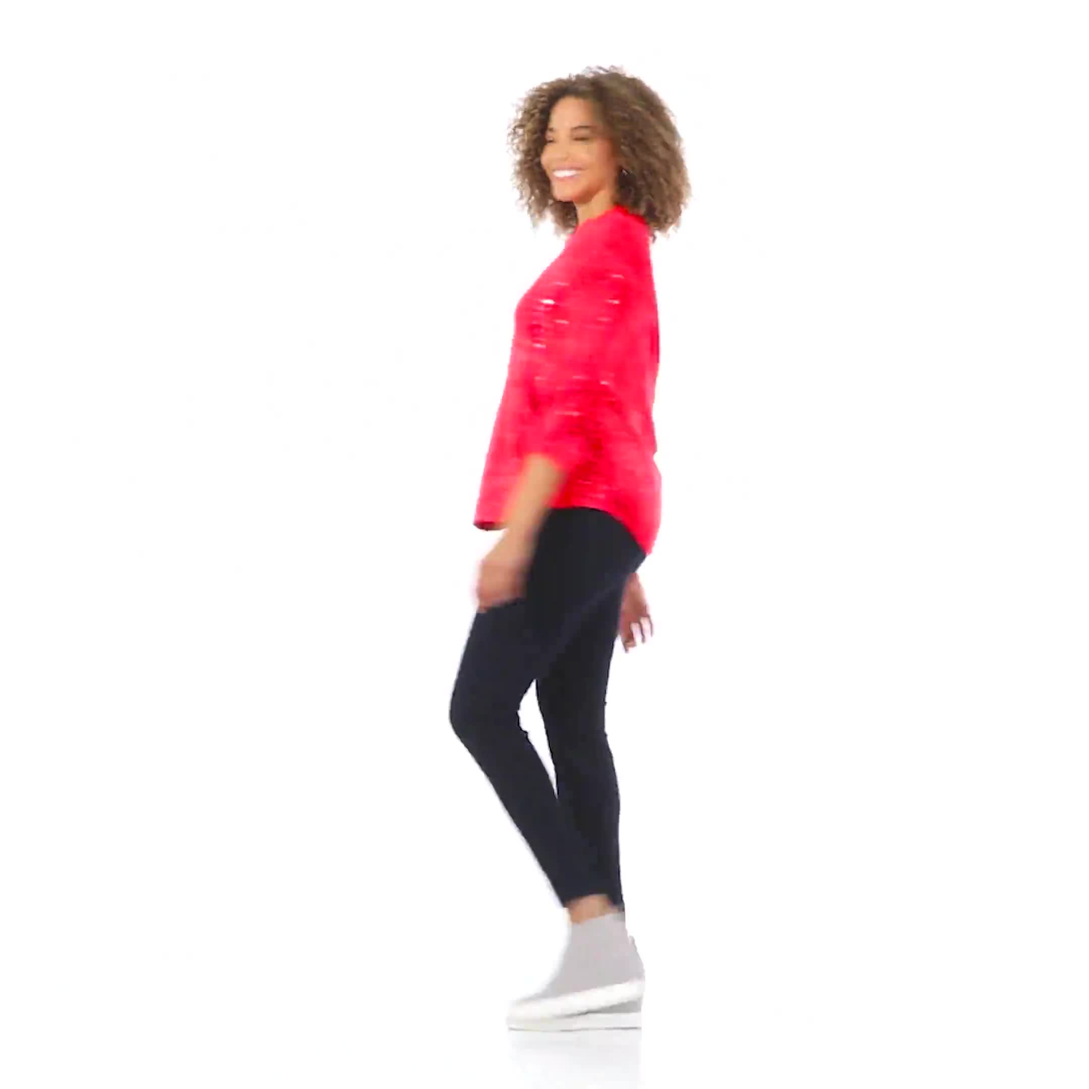Roz &  Ali Red Sequin Tie Dye Popover - Video