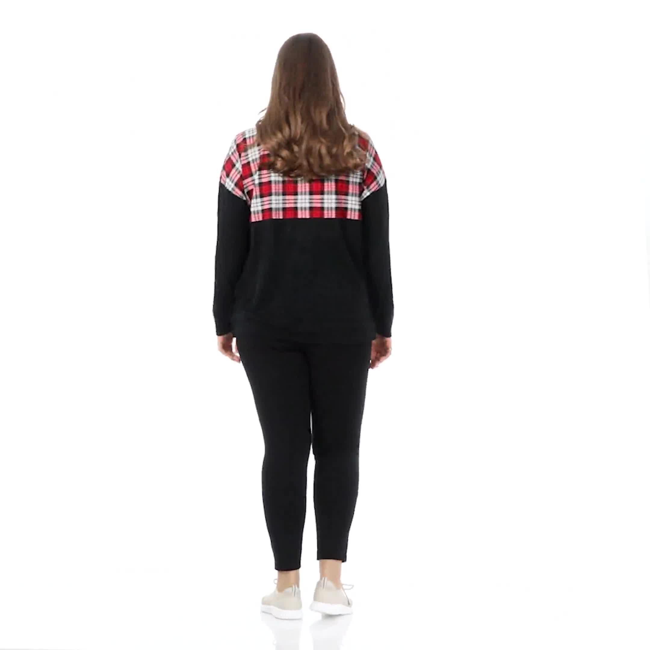Westport Hacci Sweater Knit Color Block Top - Plus - Video