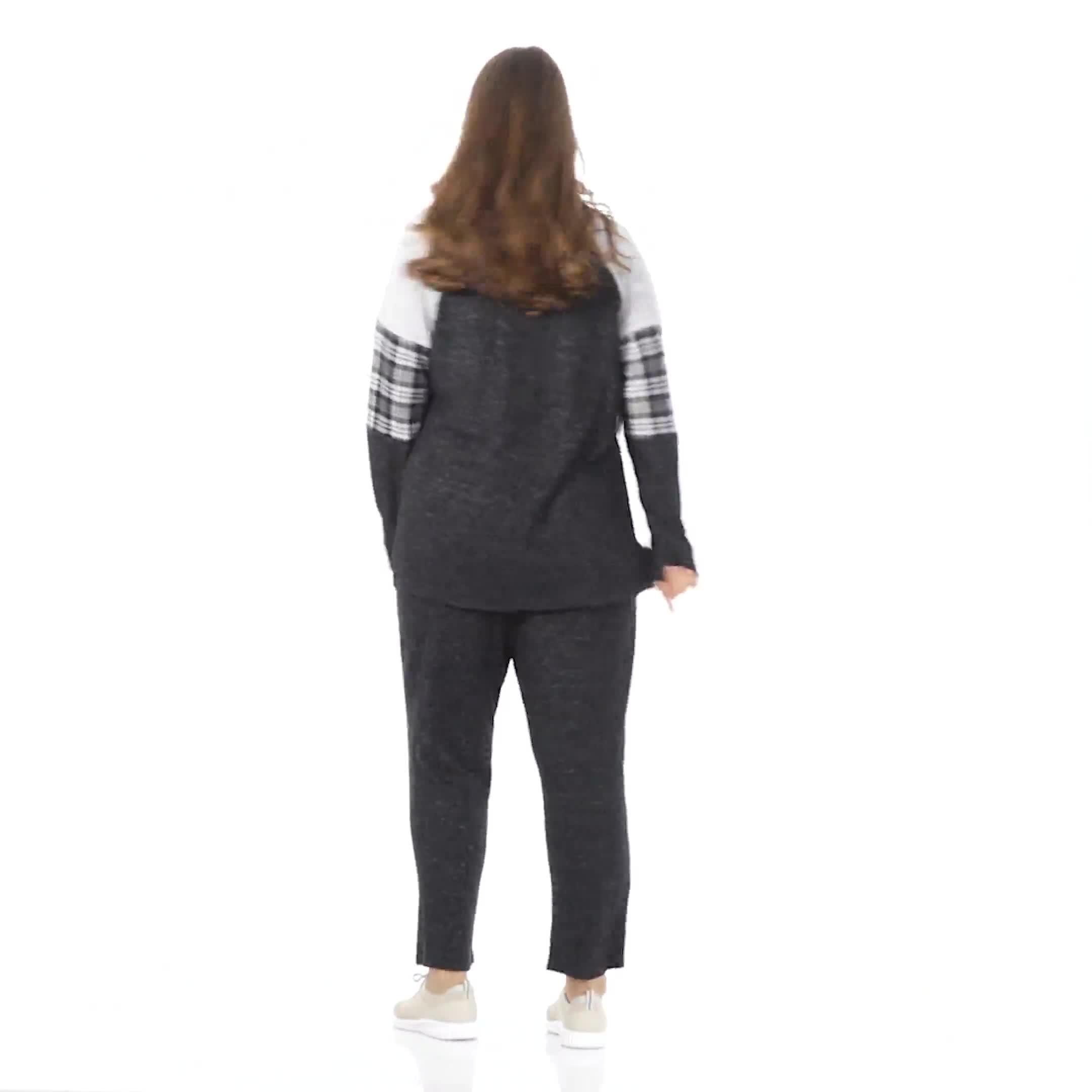 Westport Hacci Sweater Knit Twist Front Top - Plus - Video
